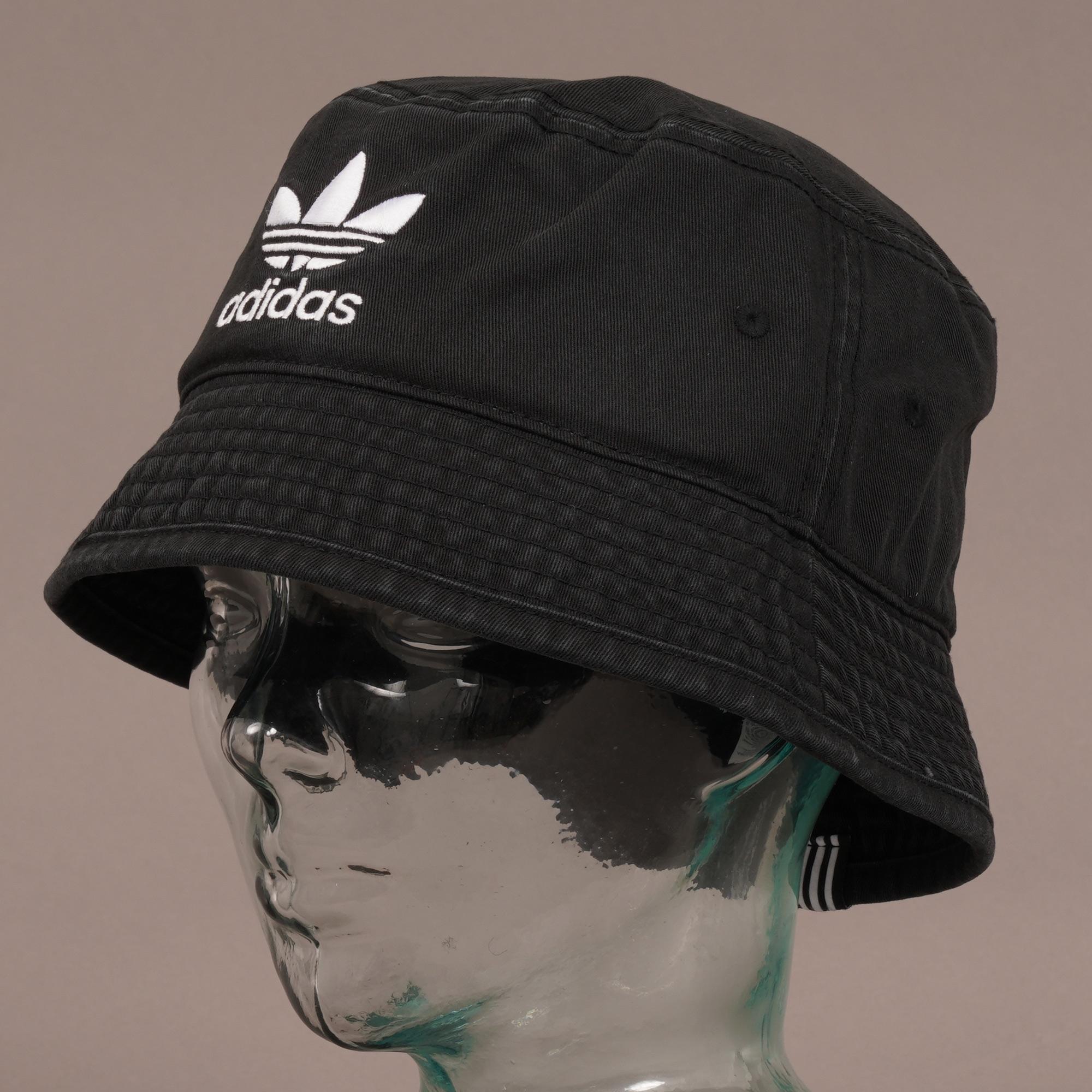 c3de56c59f2 Adidas Originals - Trefoil Bucket Hat - Black for Men - Lyst. View  fullscreen
