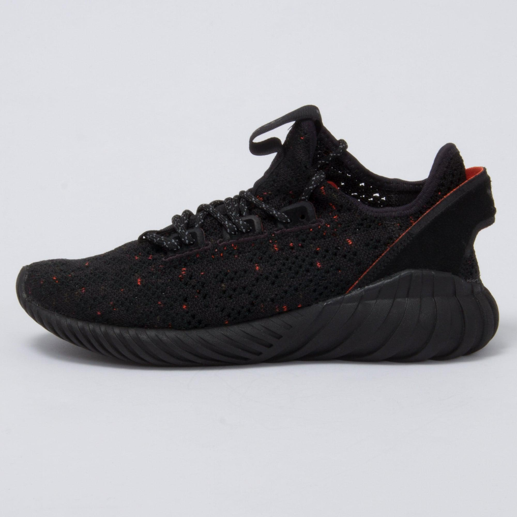 Lyst - adidas Originals Core Black Tubular Doom Sock Primeknit in ... 25fedf9afc8f