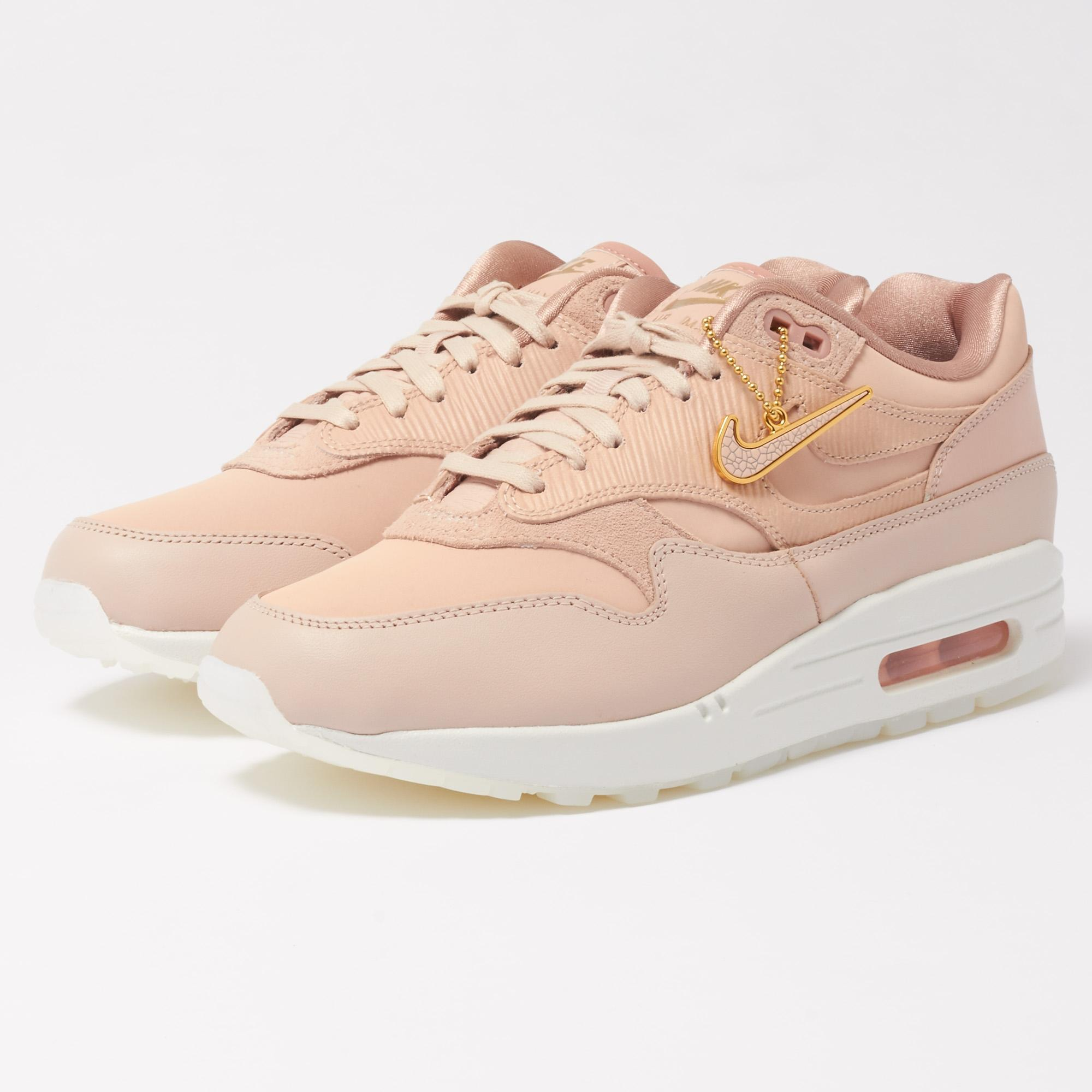 NIKE AIR MAX 1 PREMIUM WOMEN'S SHOE - Particle Beige/Particle Pink/Summit White/
