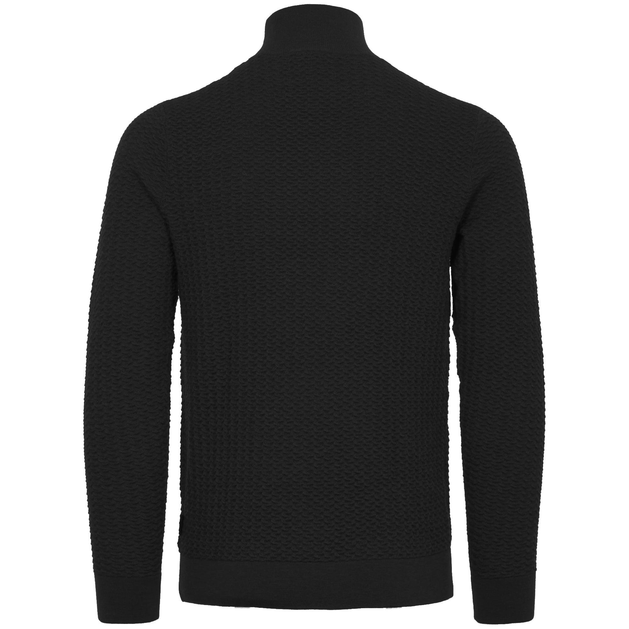 Calvin klein Perfect Black Textured Wool Sweater in Black for Men ...