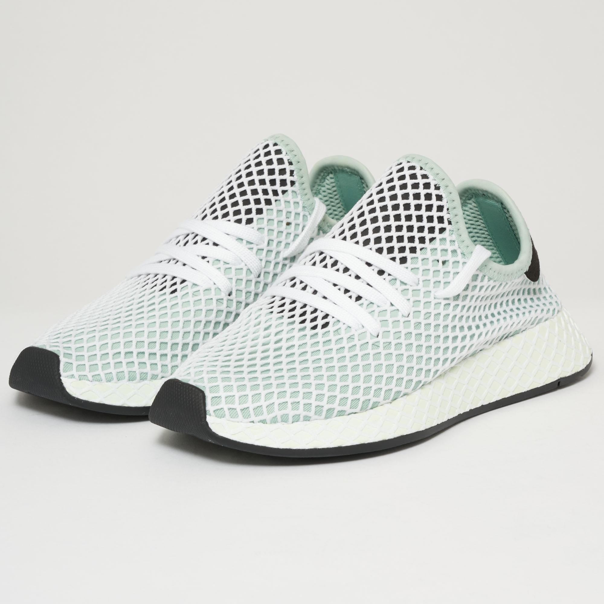 uk availability ae952 06b15 Lyst - adidas Originals Deerupt Runner W - Ash Green in Gree