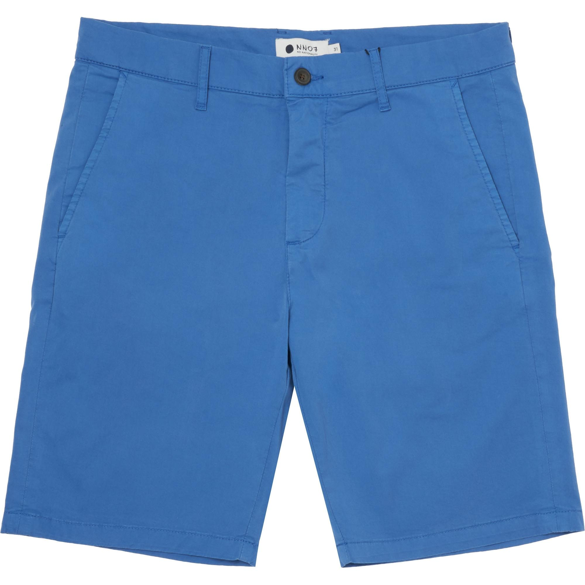 Nn.07 Crown Garment-dyed Stretch-cotton Twill Shorts - Cobalt blue Sale Finishline For Sale Cheap Real Genuine For Sale VslwAsnqs