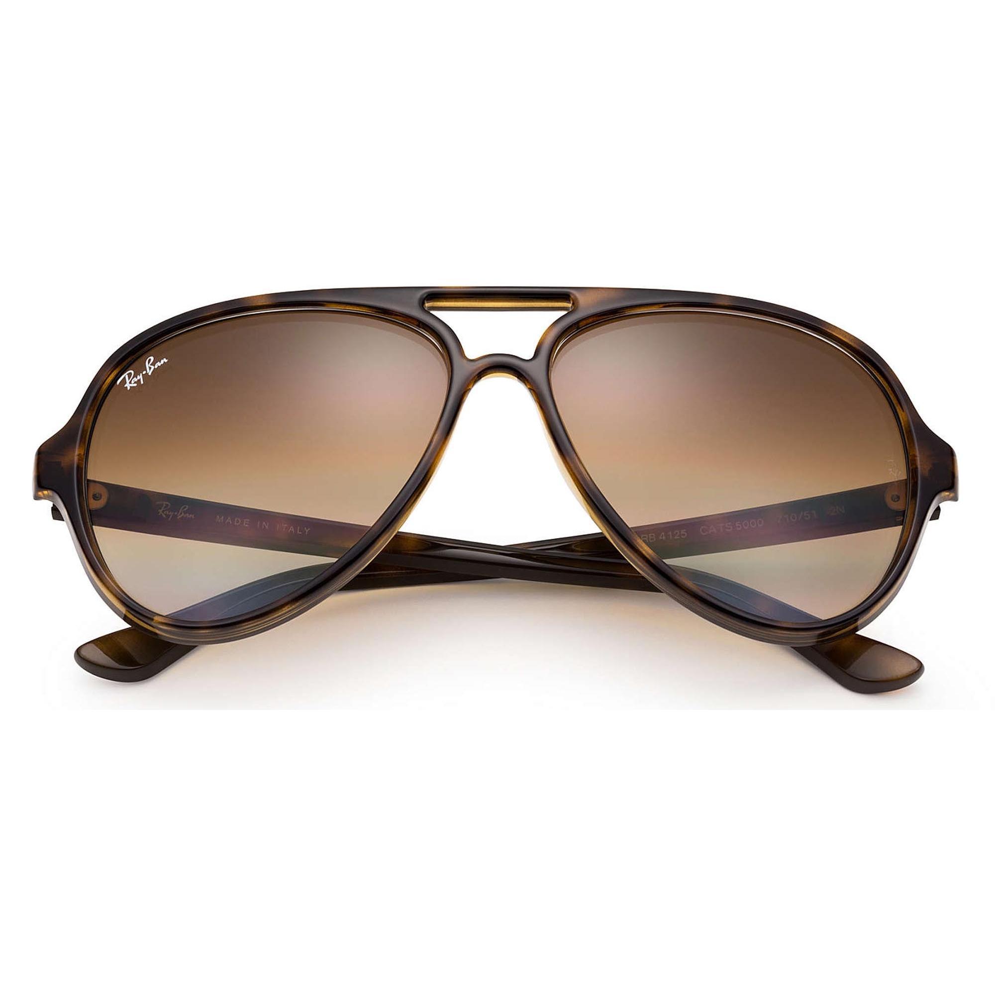 3c83f1c56f2 Ray-Ban - Gray Tortoise Cats 5000 Classic Sunglasses - Light Brown Gradient  Lenses for. View fullscreen