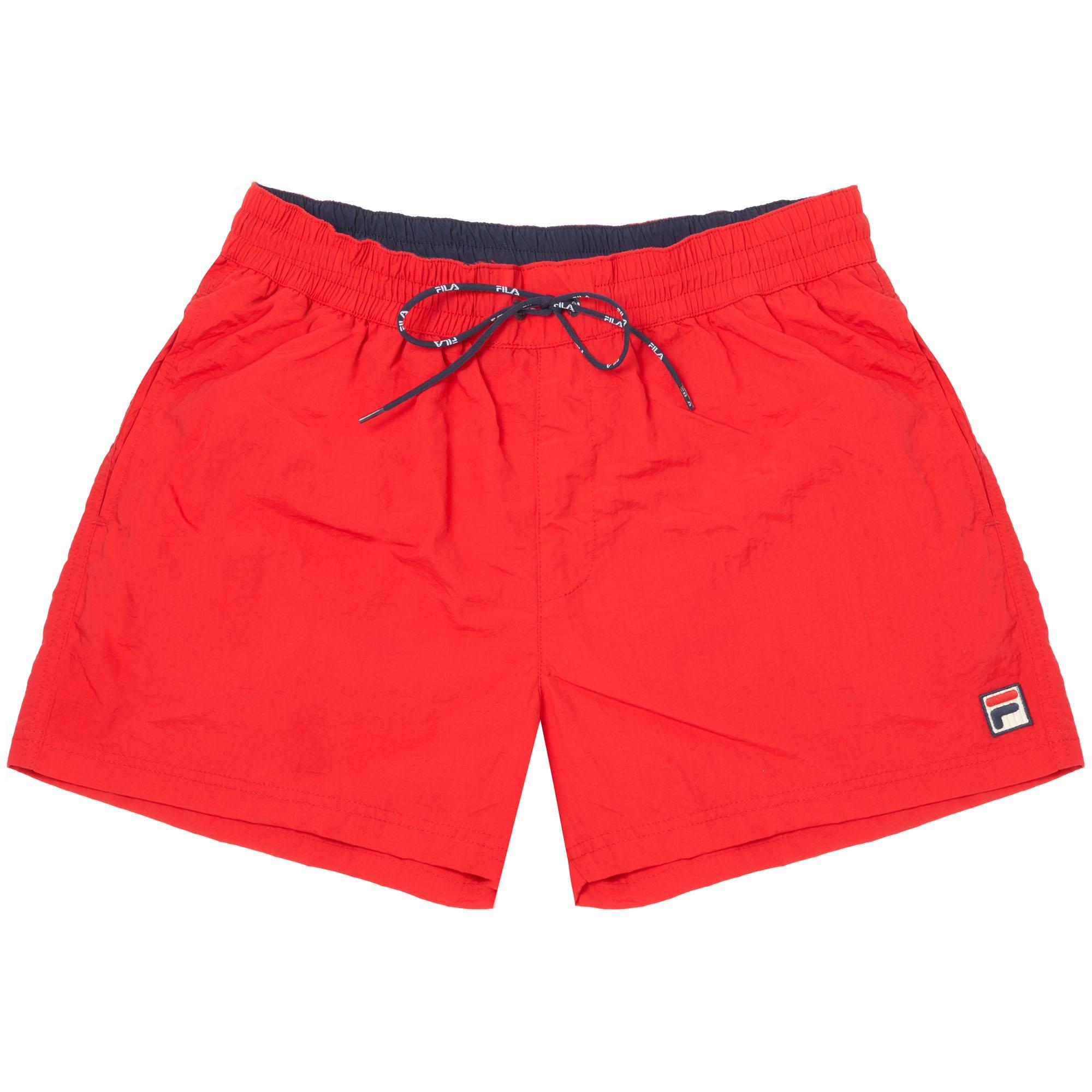 1a655117a7 Lyst - Fila Vintage Chinese Red Artoni Swim Shorts in Red for Men