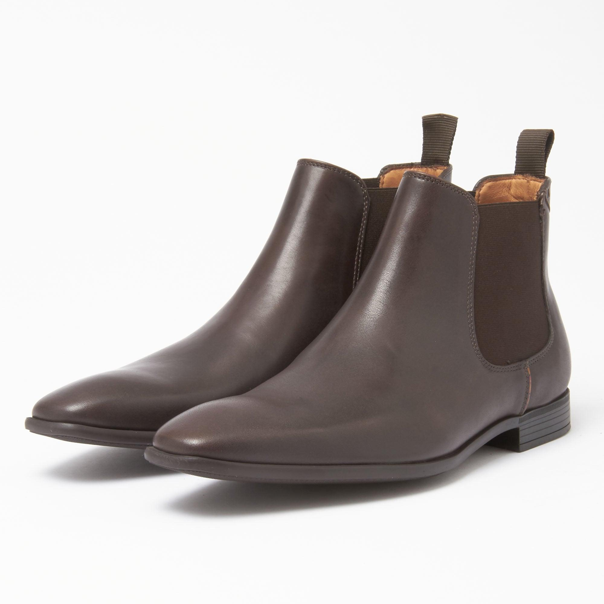 0292273c3a2 Paul Smith. Men s Paul Smith Dark Brown Leather  falconer  Chelsea Boots