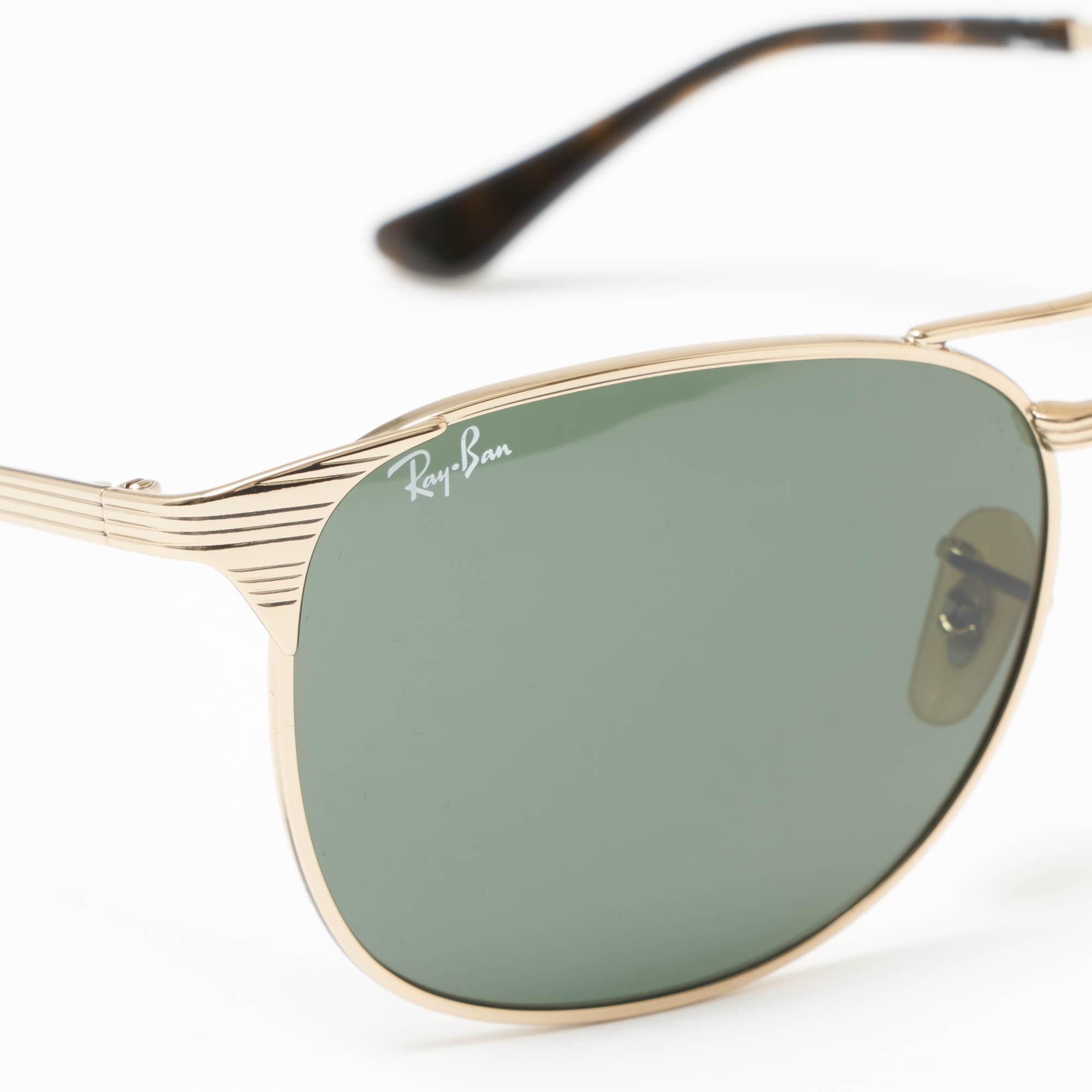 6b71d4ac8c9 Ray-Ban - Metallic Gold Signet Sunglasses - Green Classic G-15 Lenses for.  View fullscreen