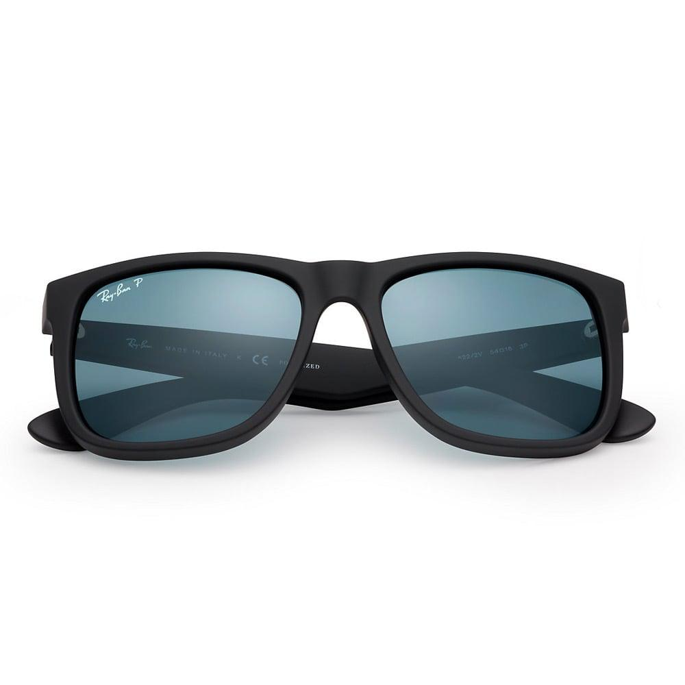 68f92c3766 Ray-Ban - Black Justin Classic Sunglasses - Polarised Blue Classic Lenses  for Men -. View fullscreen
