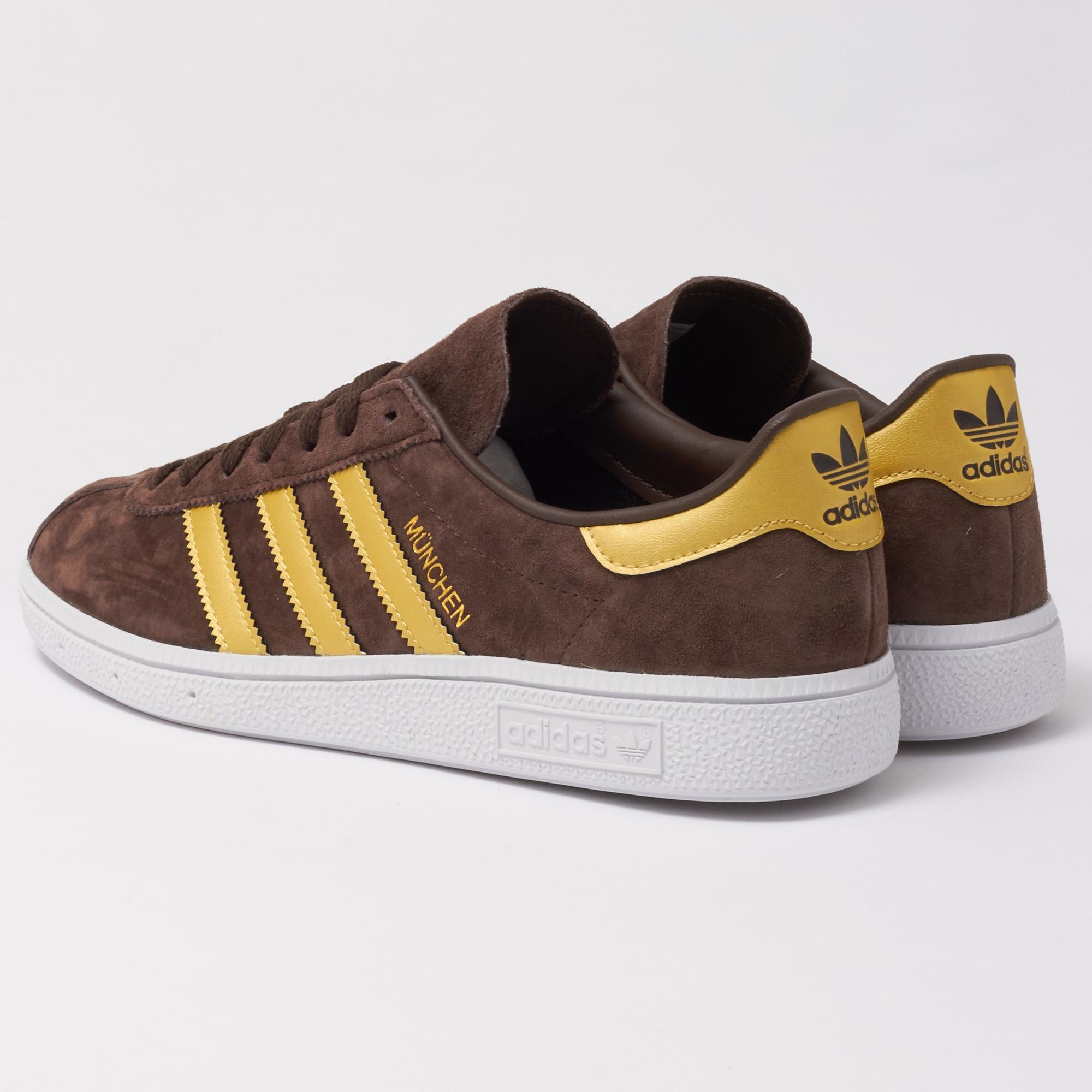 best sneakers 6a894 2d589 adidas Originals Munchen - Brown   Gold in Brown for Men - Lyst