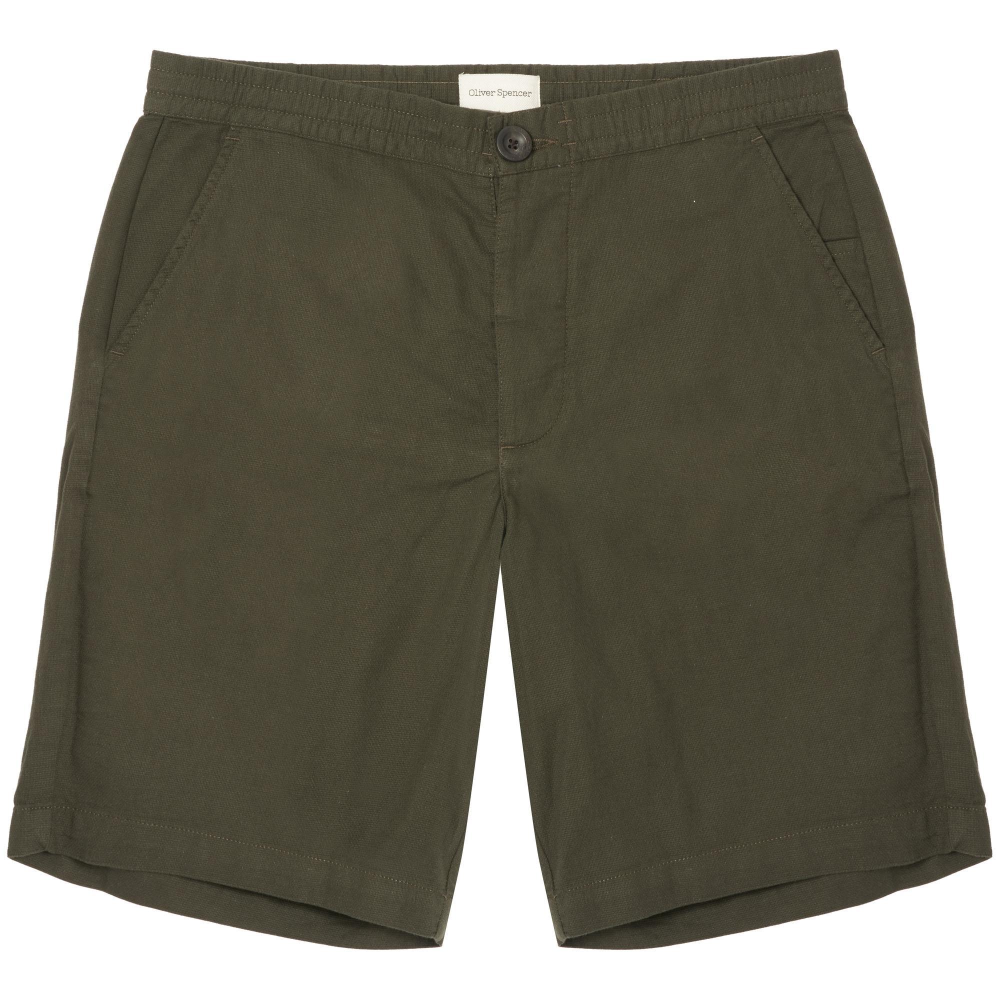 Checked Cotton Drawstring Shorts Oliver Spencer LEQFgjs