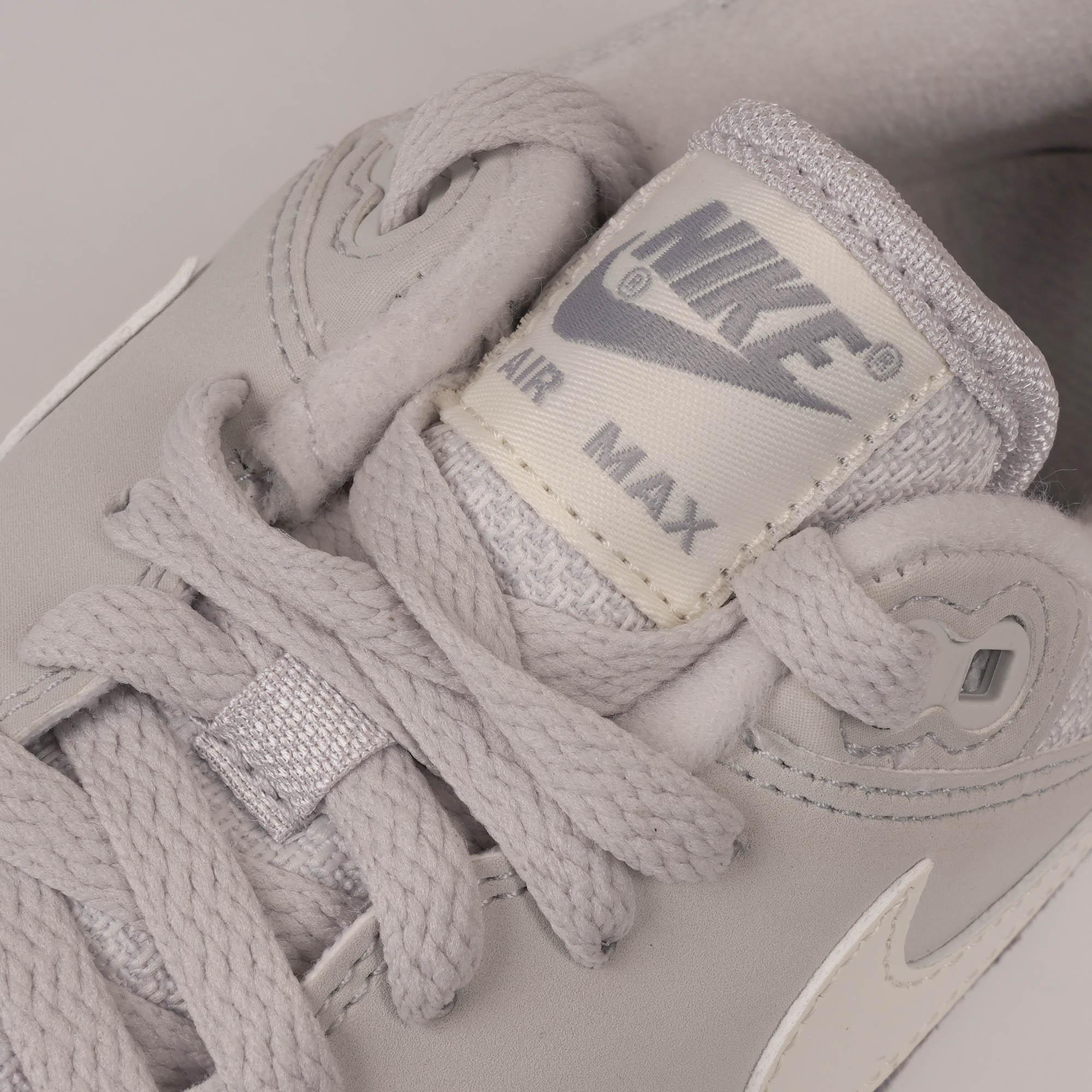 Mens Nike Air Max 1 Vast Grey Sail Wolf Grey Uk Size 9