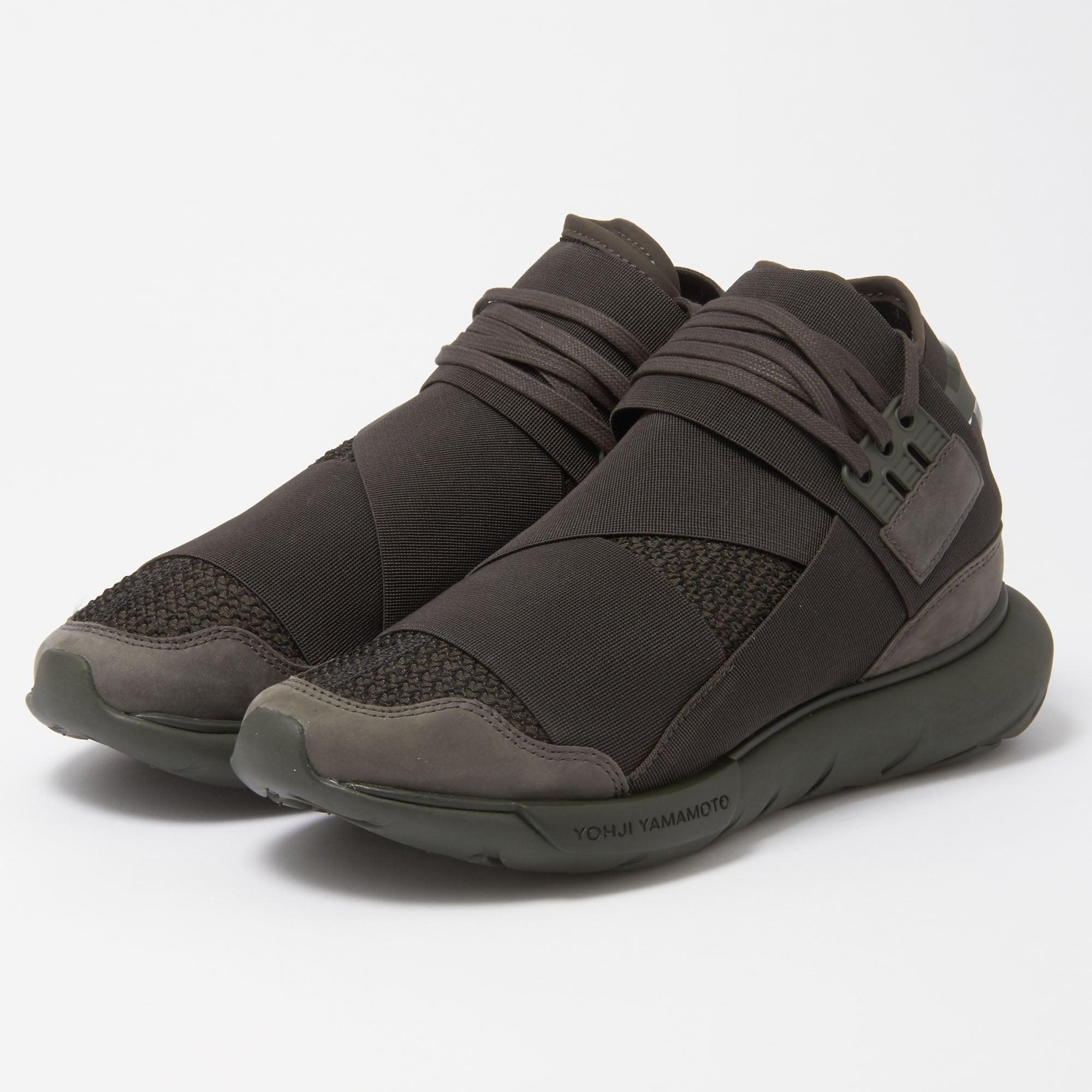 e2a5edf8c Y-3 Qasa High Black Olive Sneakers in Black for Men - Lyst