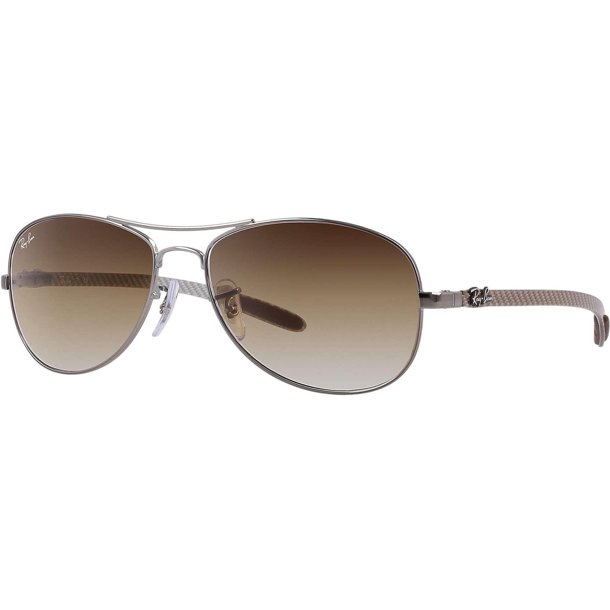 153b2eafb ... shopping lyst ray ban silver rb8301 tech light brown gradient lenses in  99ce7 ab234