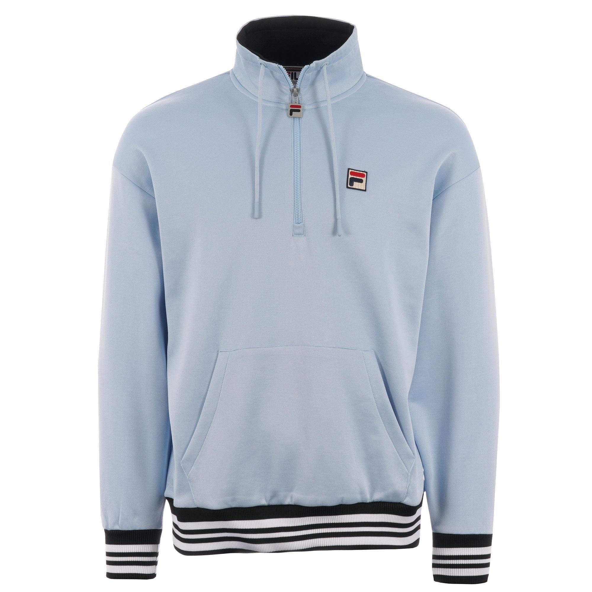 1e575a20c48d Lyst - Fila Vintage Cole Half Zip Sweatshirt - Cashmere Blue in Blue ...