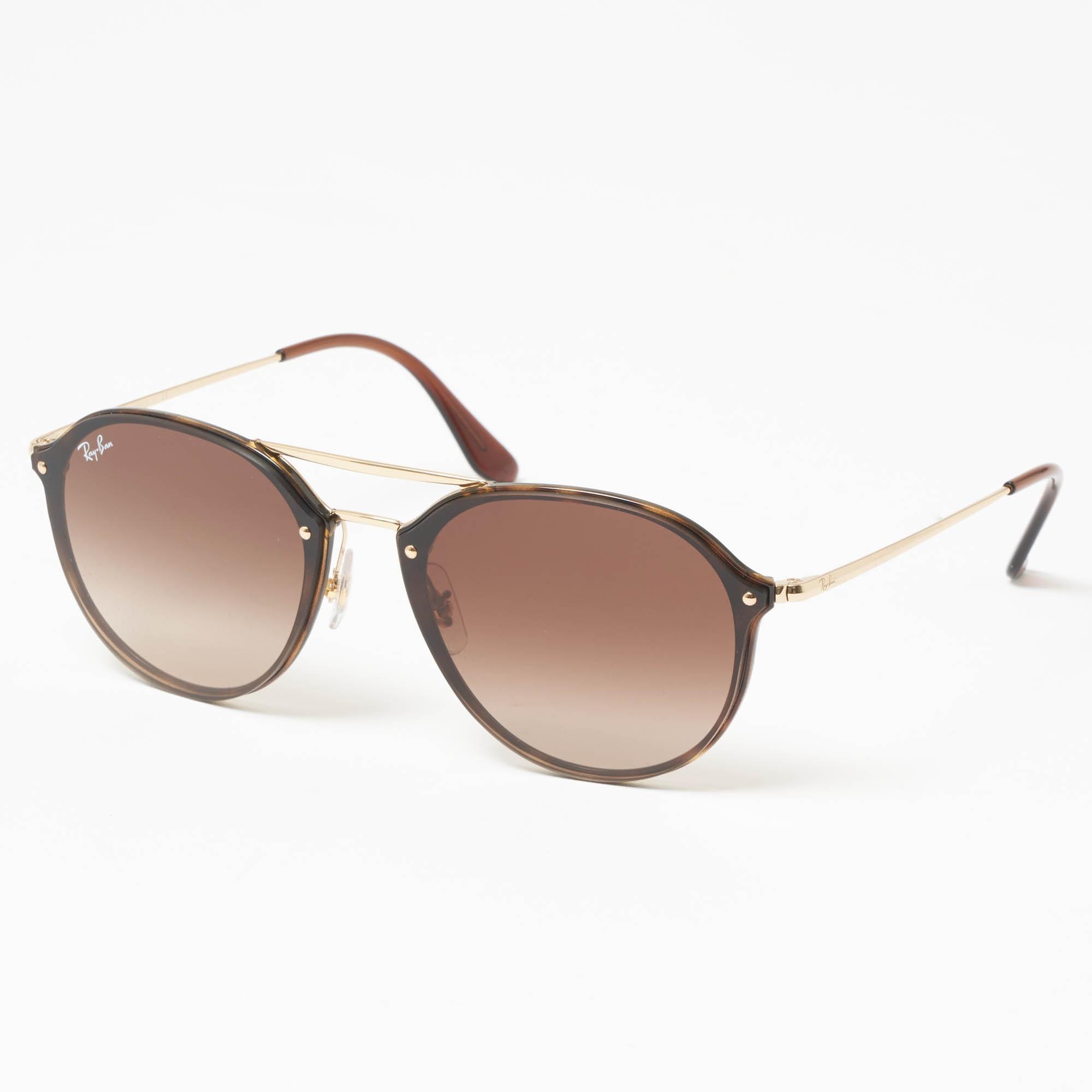 Ray-Ban Gold Blaze Double Bridge Sunglasses - Brown Gradient Lenses ... 709bb9598b1d