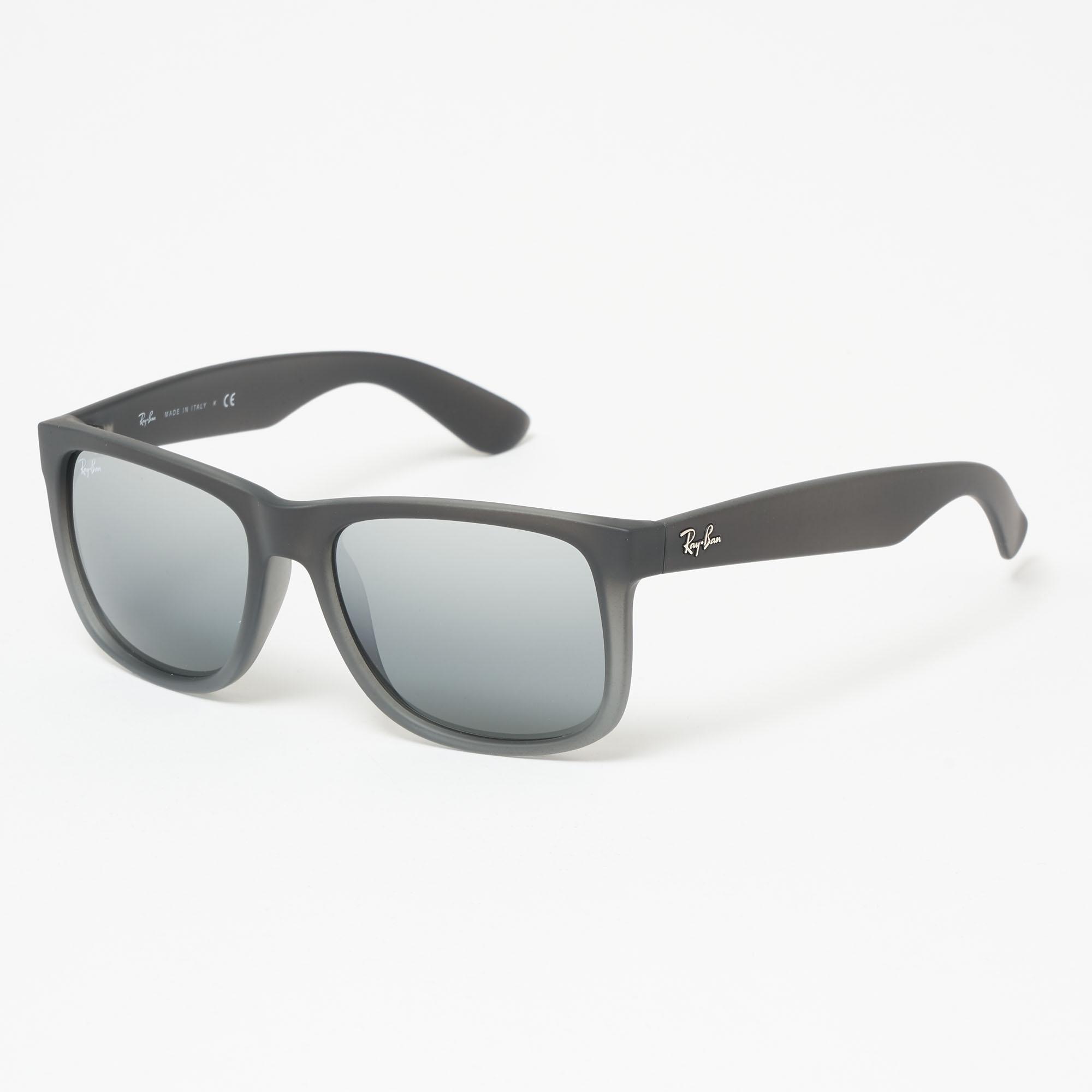 9c3906aa8d Ray-Ban. Men s Gray Smoke Grey Justin Sunglasses - Silver Gradient Mirror  Lenses