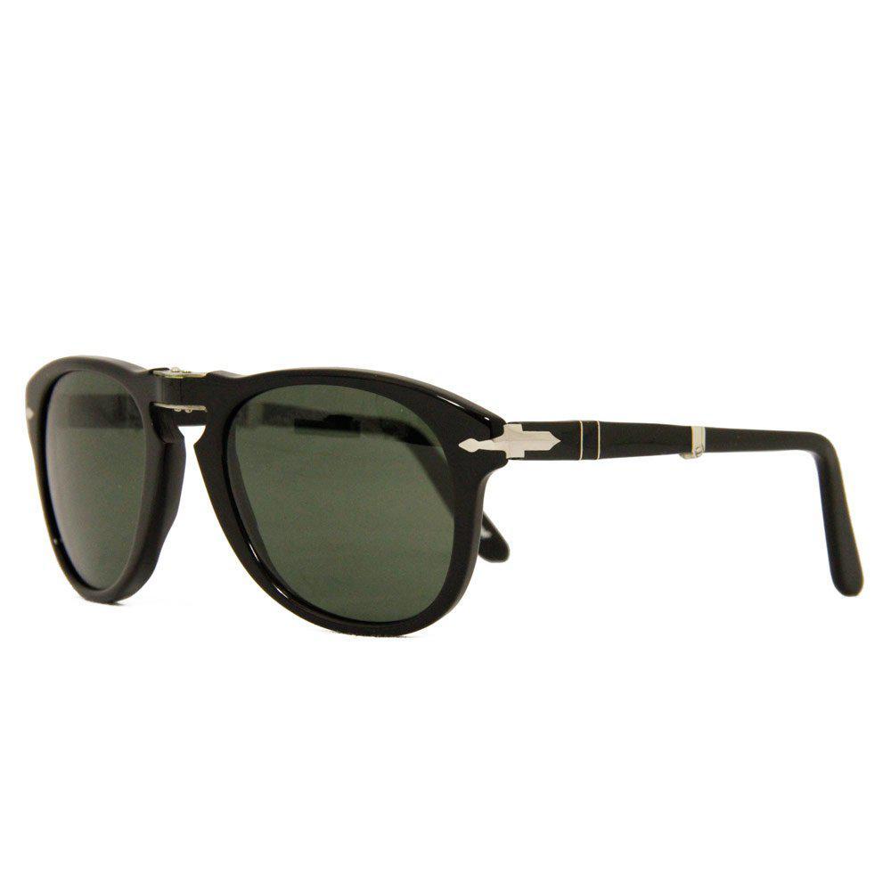 726e9725f08ac Persol 714 Foldable Polarized Sunglasses- Black   Grey in Black for ...