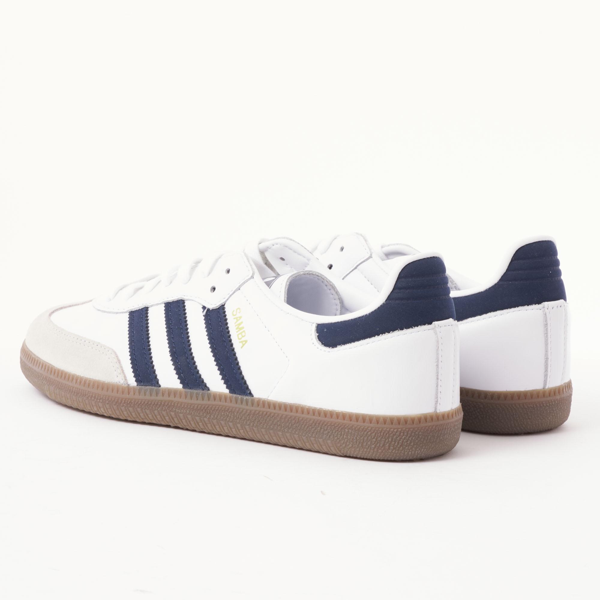 62903f6a1 adidas Originals Samba Og - White & Navy in White for Men - Lyst
