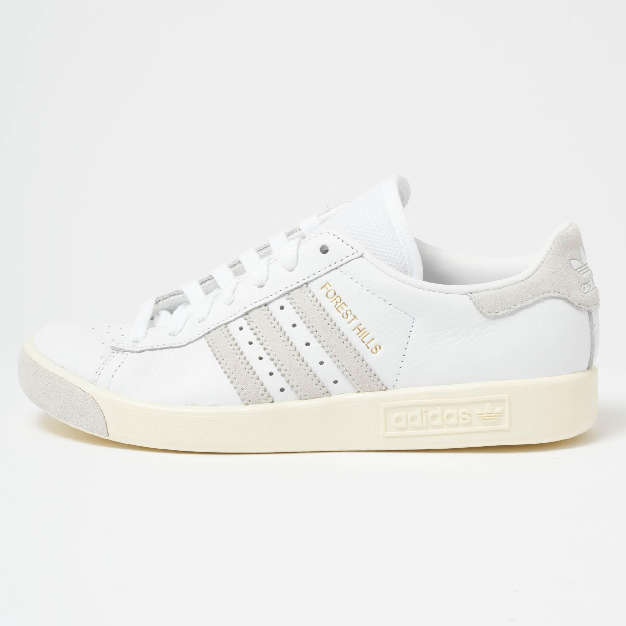 9e19fab1f84cee Lyst - adidas Originals Forest Hills White   Crystal Trainer in ...