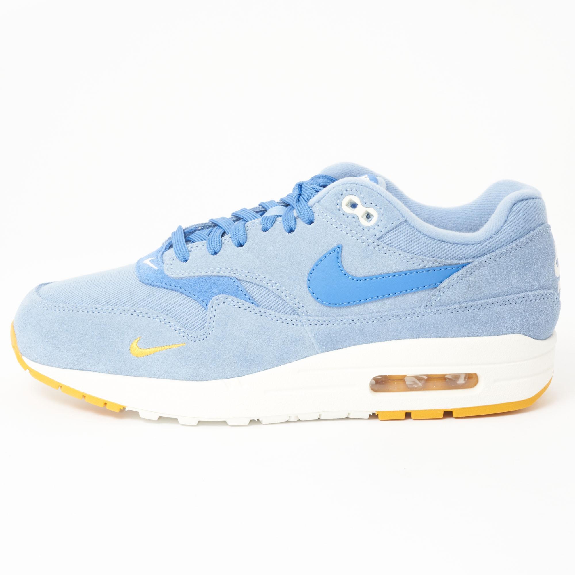 best cheap be869 ba667 Nike Air Max 1 Premium - Work Blue   Mountain Blue in Blue for Men ...