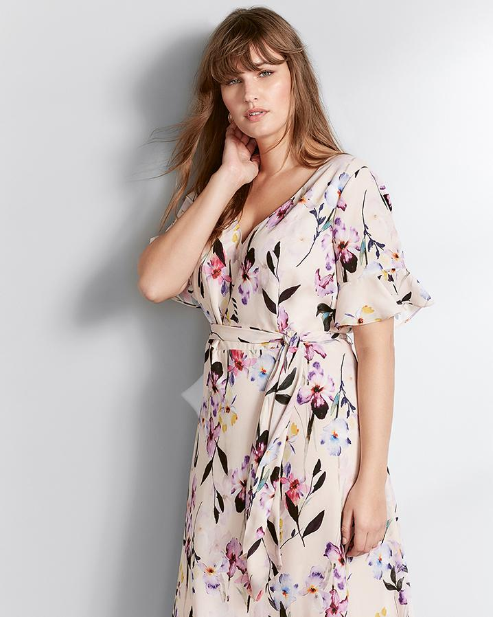 7366facb71cb0 Studio 8 Calie Wrap Floral Dress in Pink - Lyst