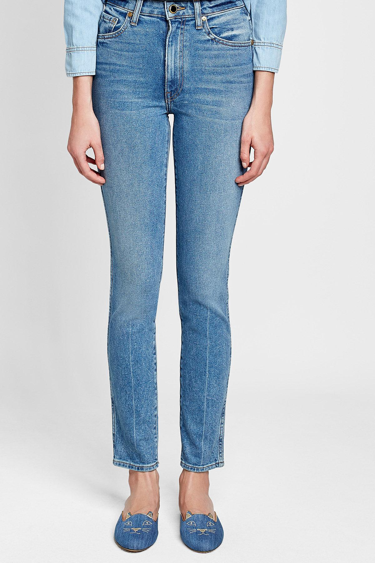 Online Shop From China straight-leg cropped jeans - Blue Khaite Cheap Footlocker Get Authentic Cheap Online tKcic