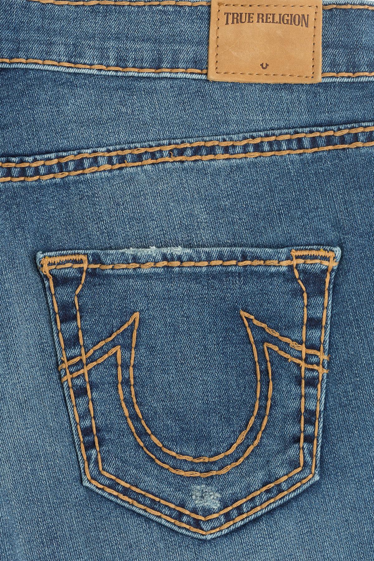 true religion nu boy skinny baywood cropped jeans in blue lyst. Black Bedroom Furniture Sets. Home Design Ideas