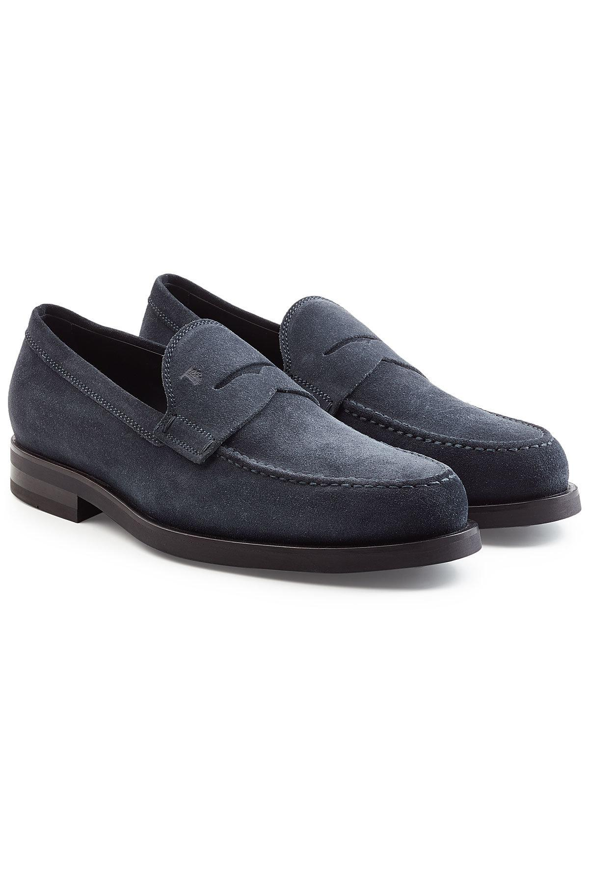 Tod'sTods Penny loafer A0001 suede purple hand-sewn quAdA1zrsC