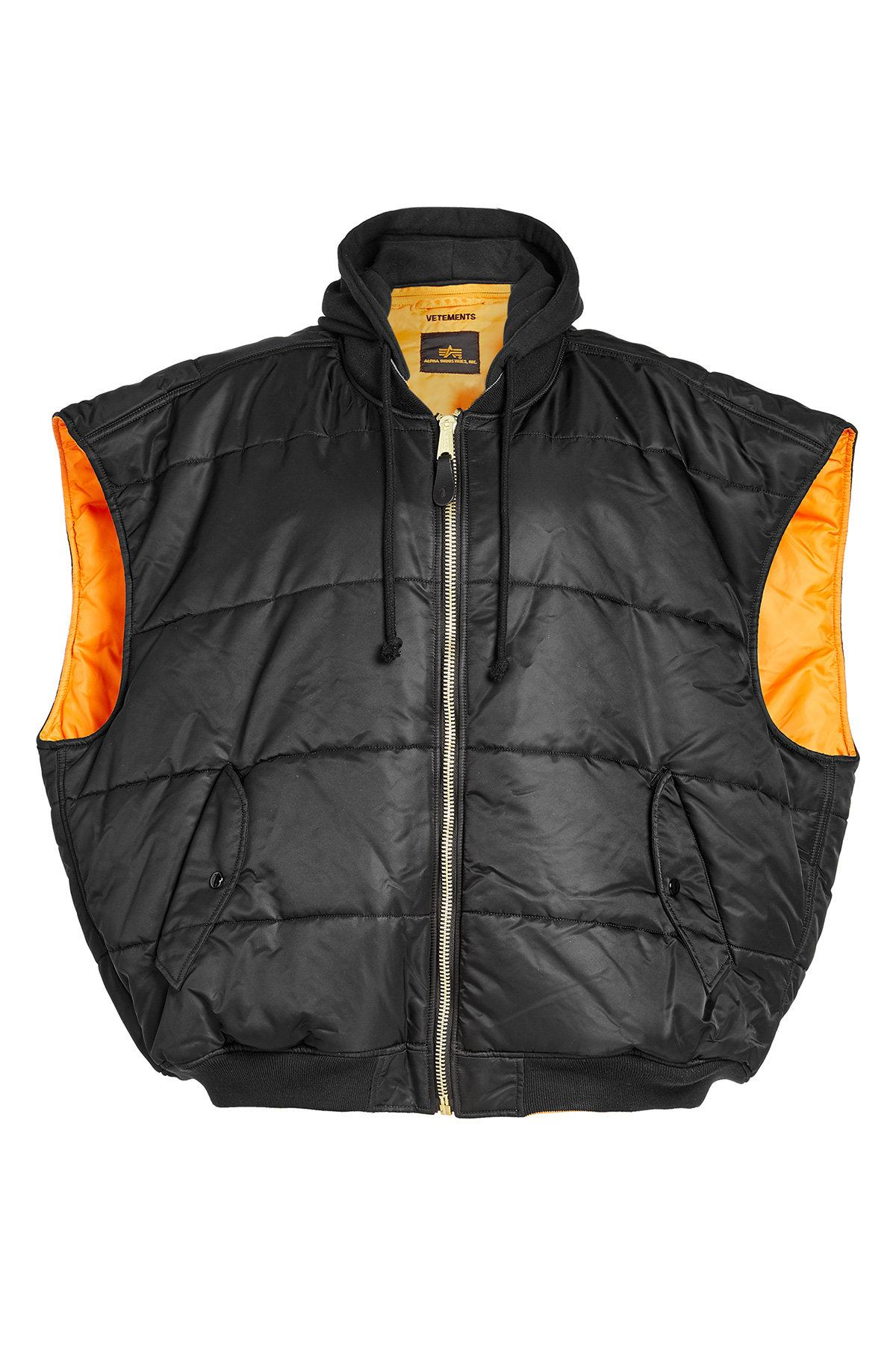 Lyst Vetements Reversible Oversized Puffer Vest With