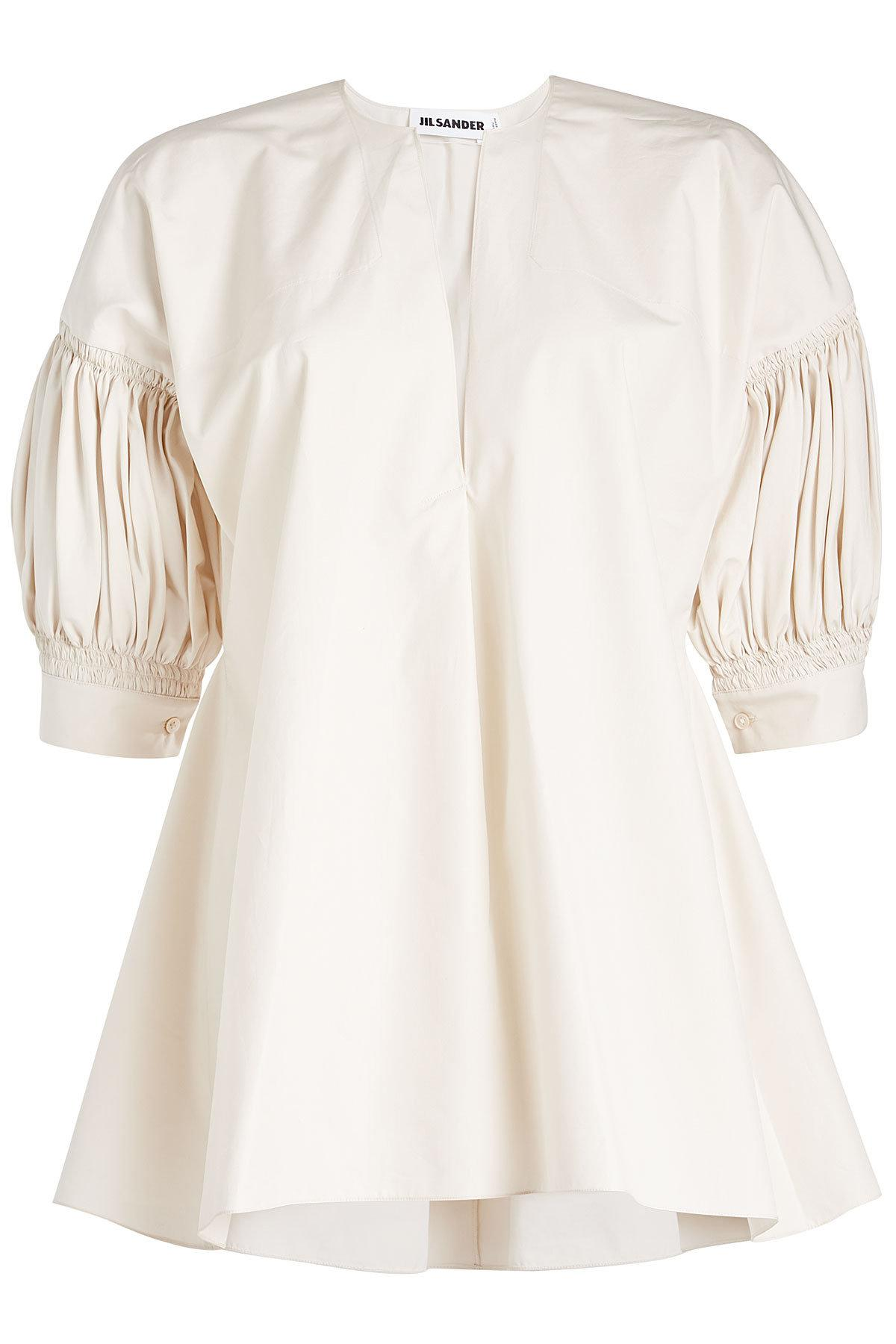 89b7904b45573 Jil Sander Estro Cotton Blouse in White - Lyst