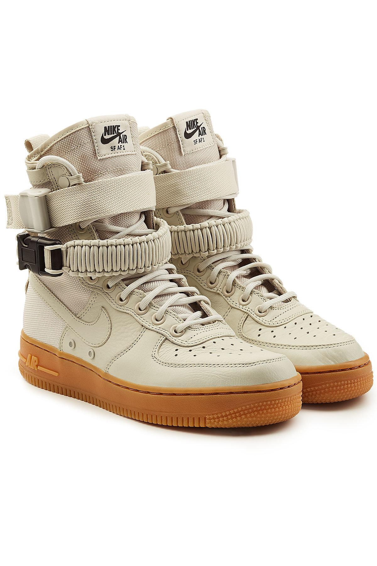 nike sf air force 1 high top sneakers with leather lyst. Black Bedroom Furniture Sets. Home Design Ideas
