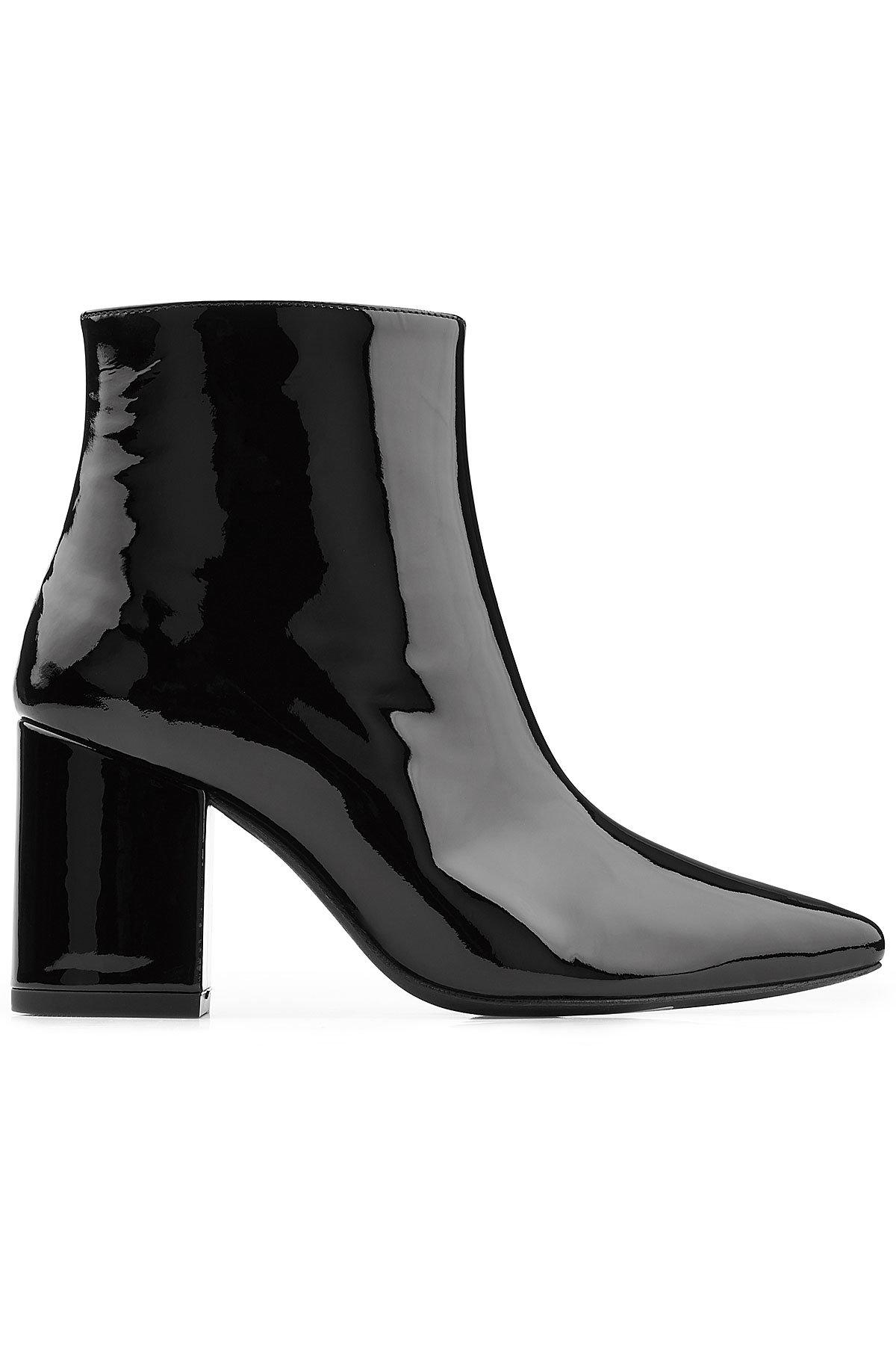 hot sale cheap price Anine Bing Pointed-Toe Patent Leather Ankle Boots sale Inexpensive new online ijCUNvrxDp