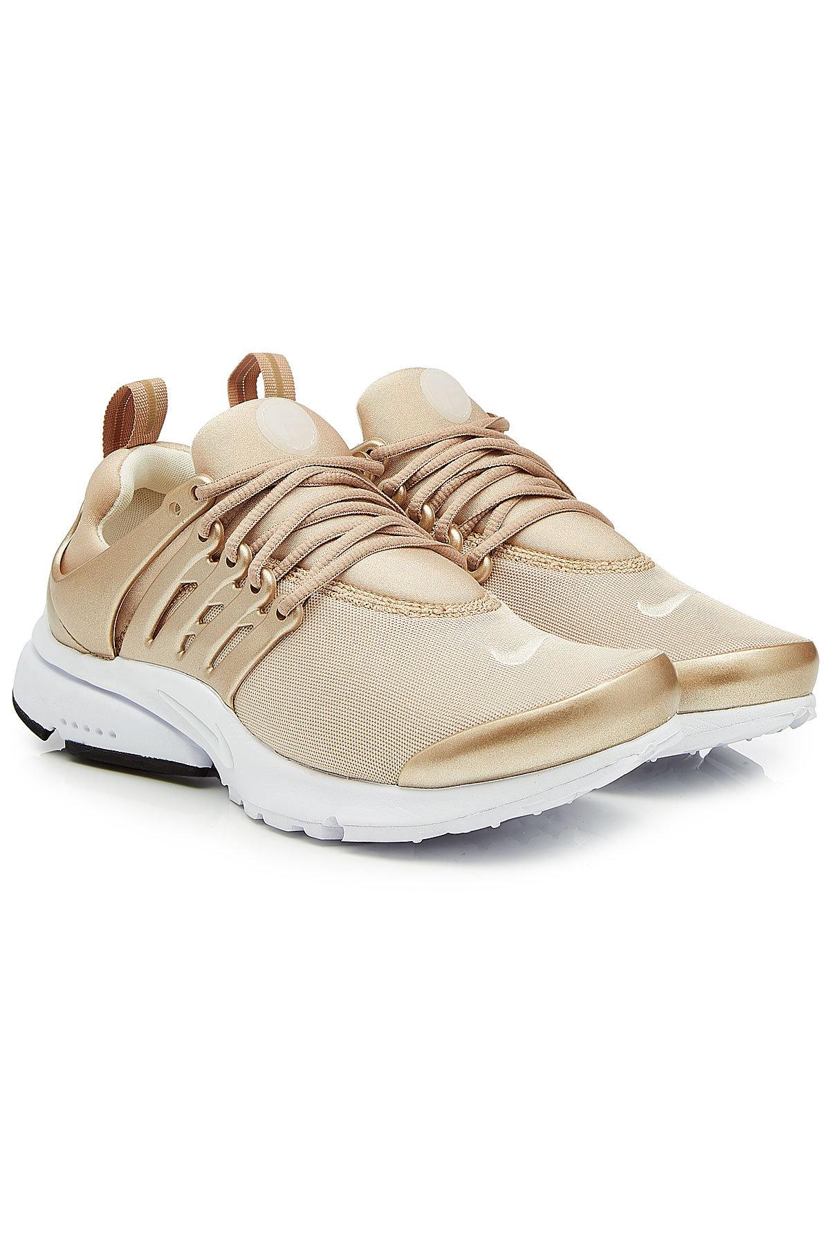 3b02249f4a88 ... sale lyst nike air presto sneakers with metallic detail in metallic  95ad5 7bbc5