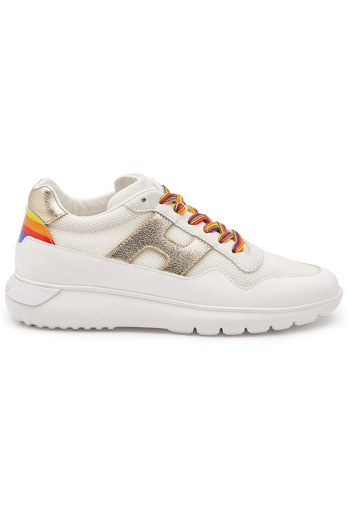 4a5a9ecb4735 Hogan - Multicolor H371 Leather Platform Sneakers With Mesh - Lyst. View  fullscreen