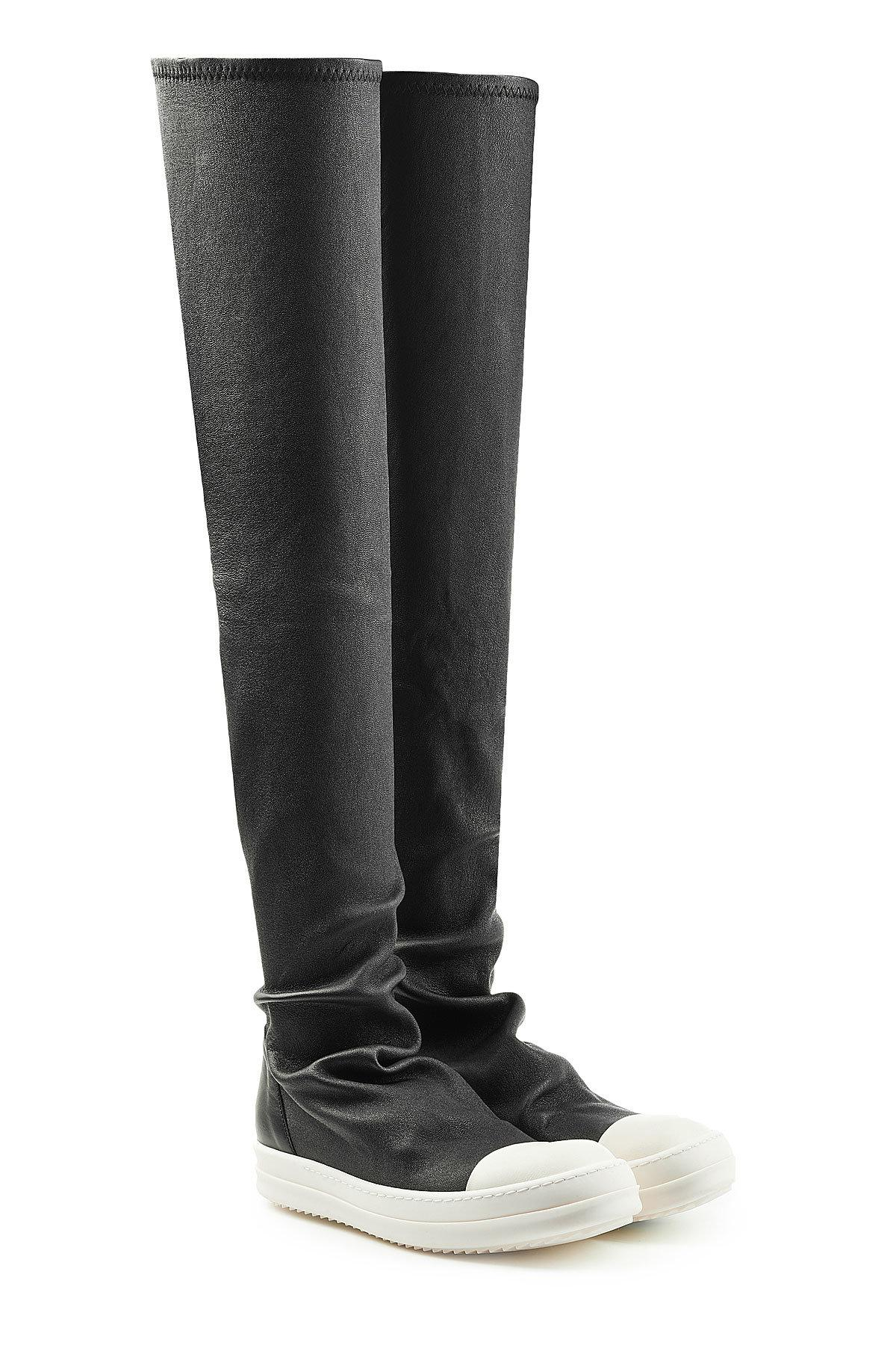 3d2e7501961 Rick Owens Leather Over-the-knee Boots in Black - Lyst