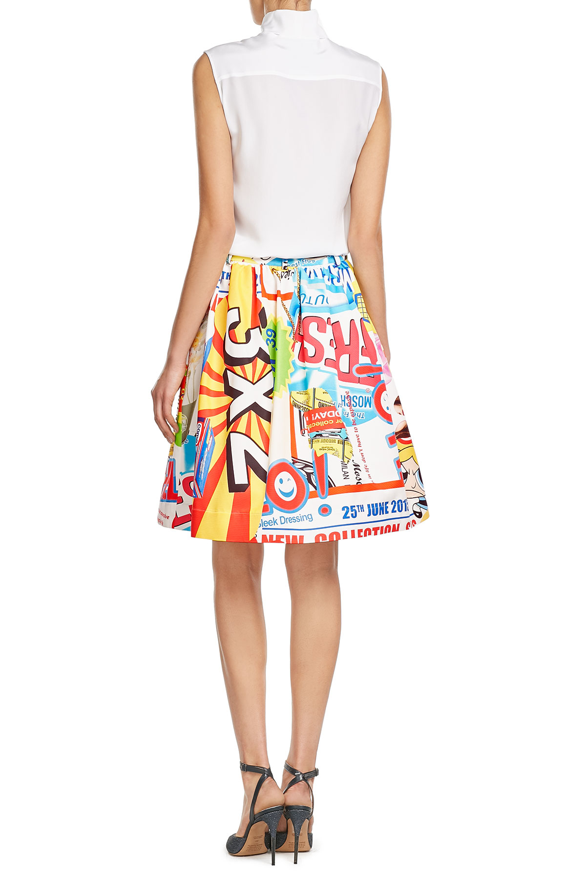 Lyst moschino cheap and chic printed skirt multi Inexpensive chic