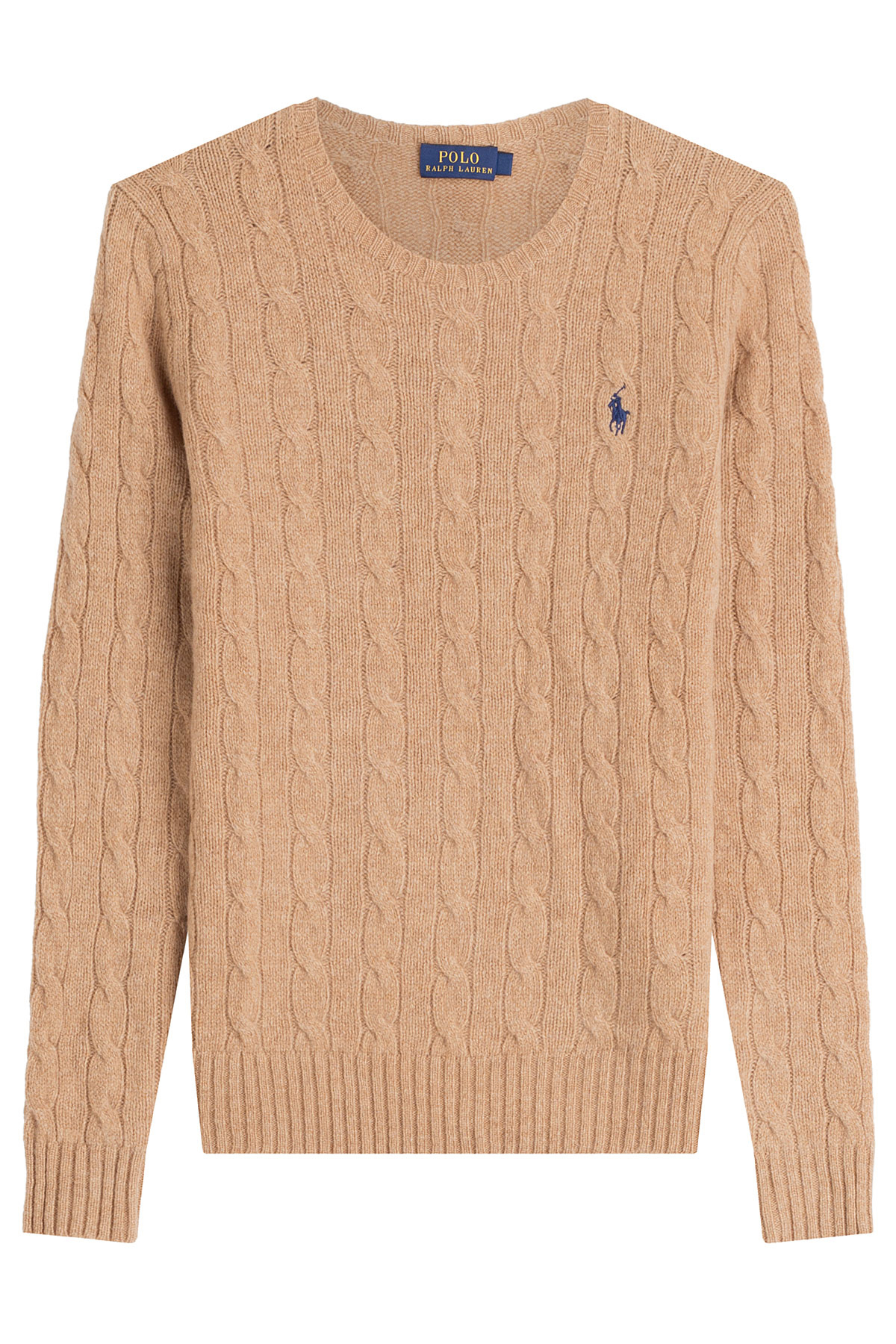lyst polo ralph lauren merino wool cable knit pullover. Black Bedroom Furniture Sets. Home Design Ideas