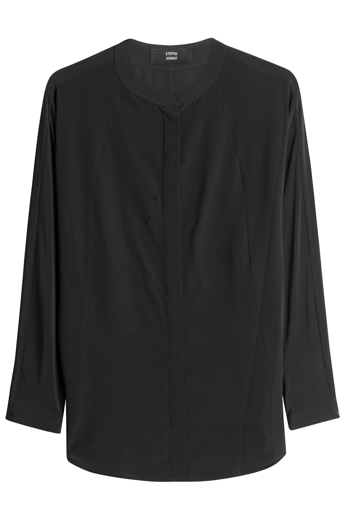 steffen schraut silk blouse black in black lyst. Black Bedroom Furniture Sets. Home Design Ideas