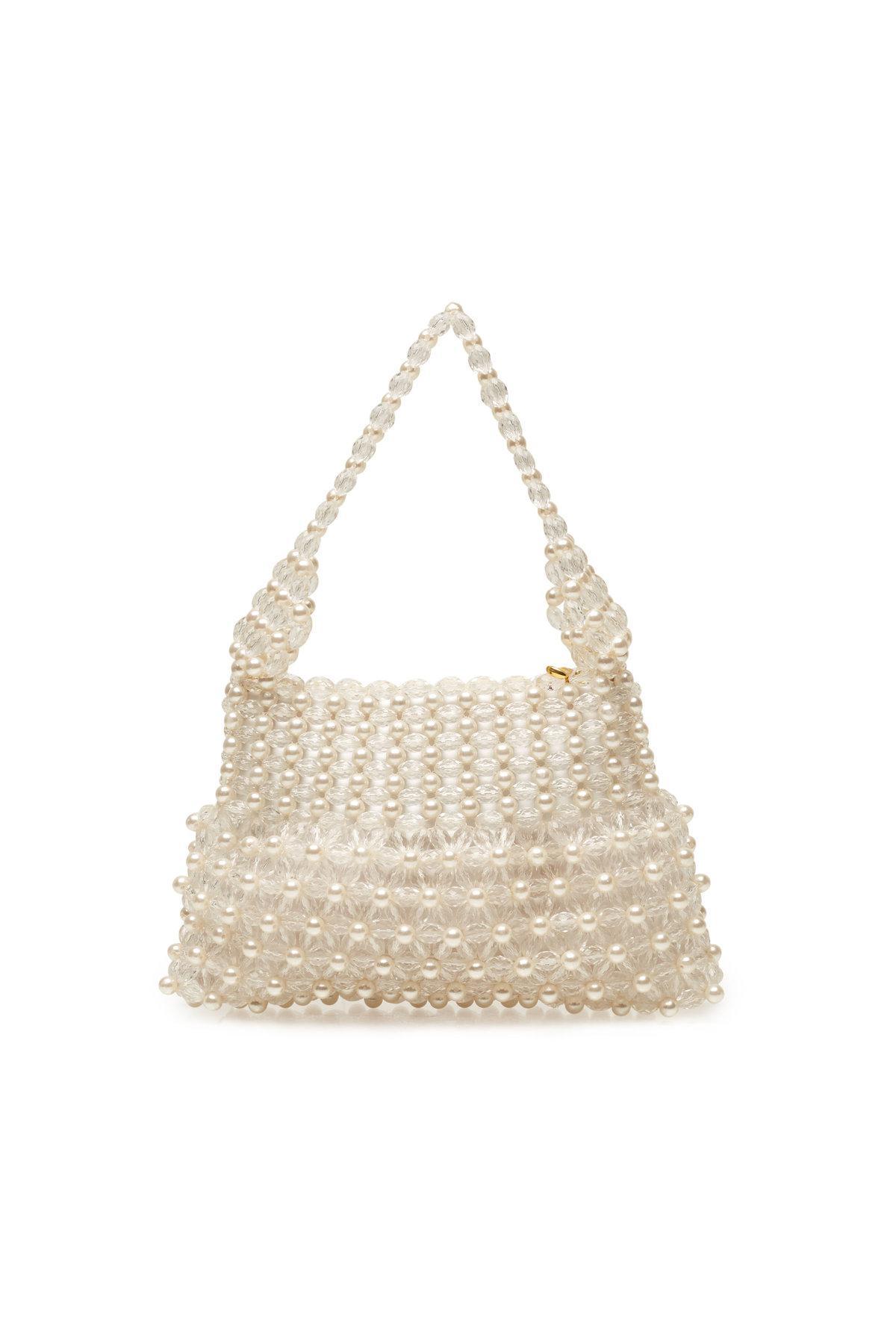 Shrimps - Natural Bead Embellished Handbag - Lyst. View fullscreen c3b6a55a85edd