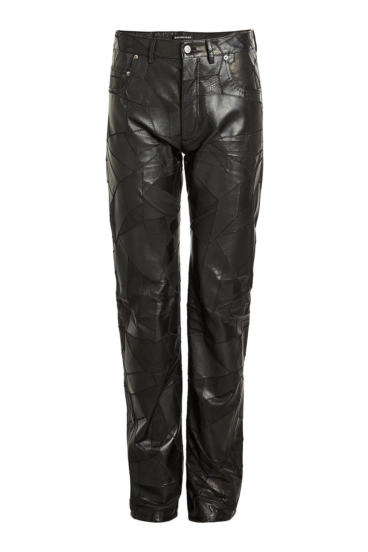 aec0ded9afc1b Lyst - Balenciaga Patchwork Leather Pants in Black for Men