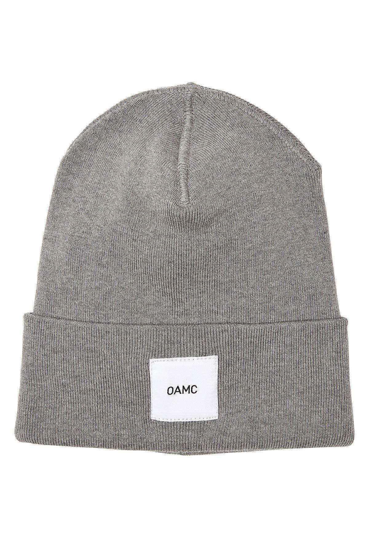 brand patch knitted beanie - Grey OAMC oDkt4eONgd