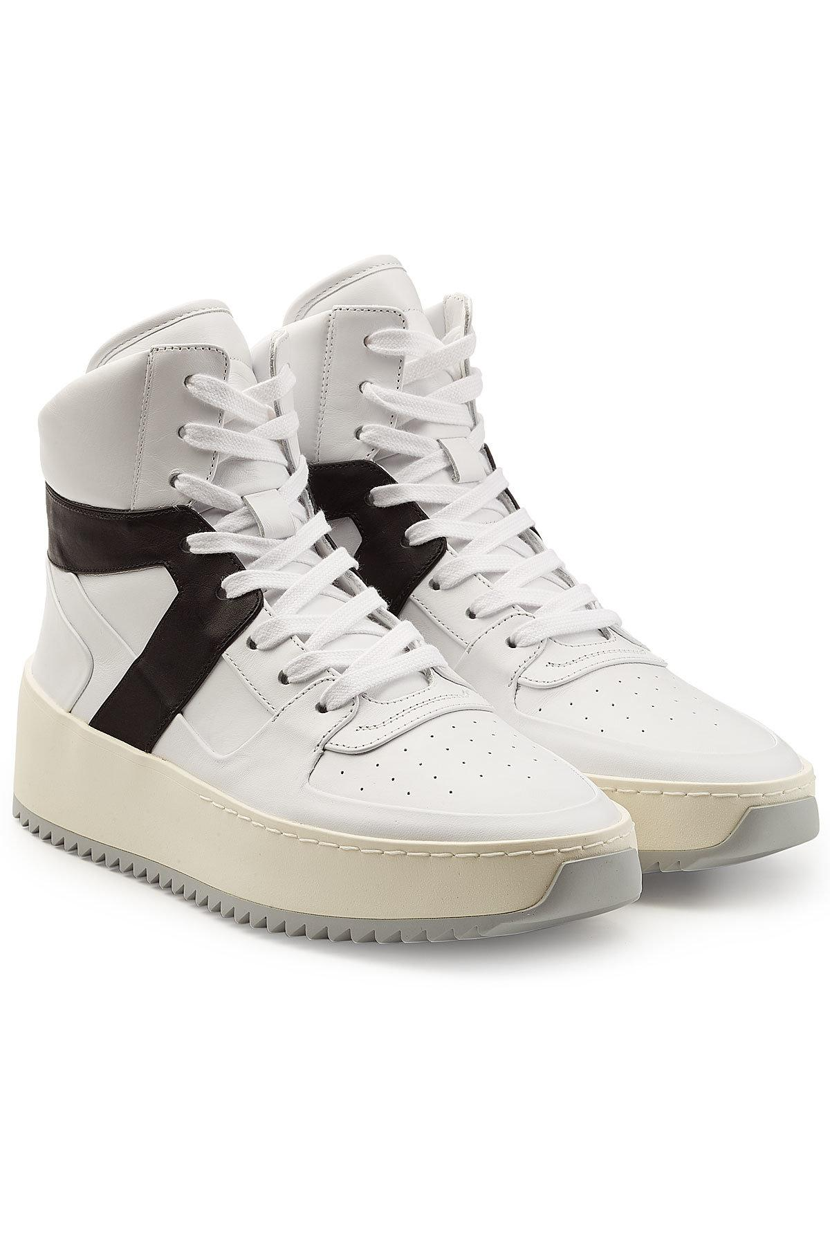 shop cheap price Fear of God Basketball Nubuck High-Top Sneakers buy cheap excellent TiJh6W9HnV