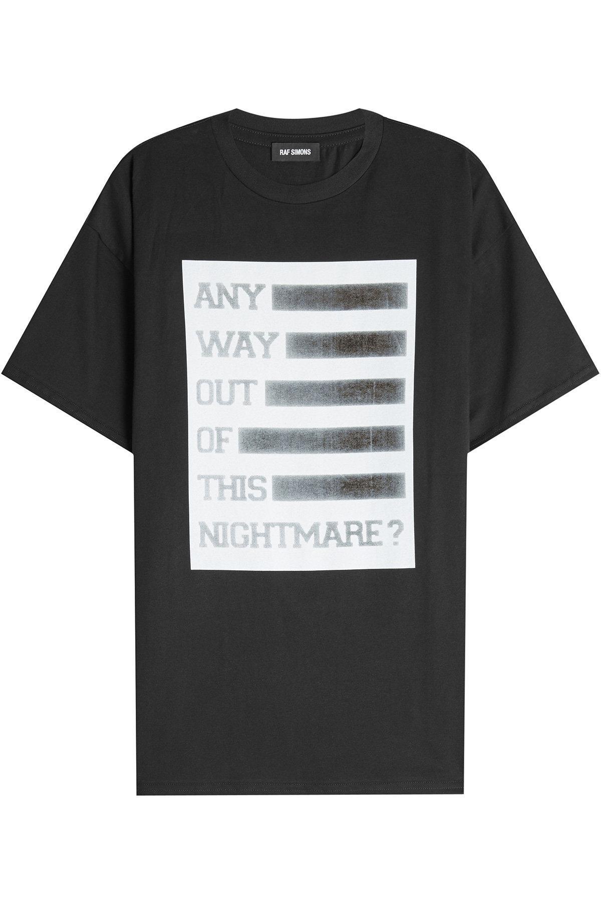 Lyst Raf Simons Printed Cotton T Shirt In Black For Men