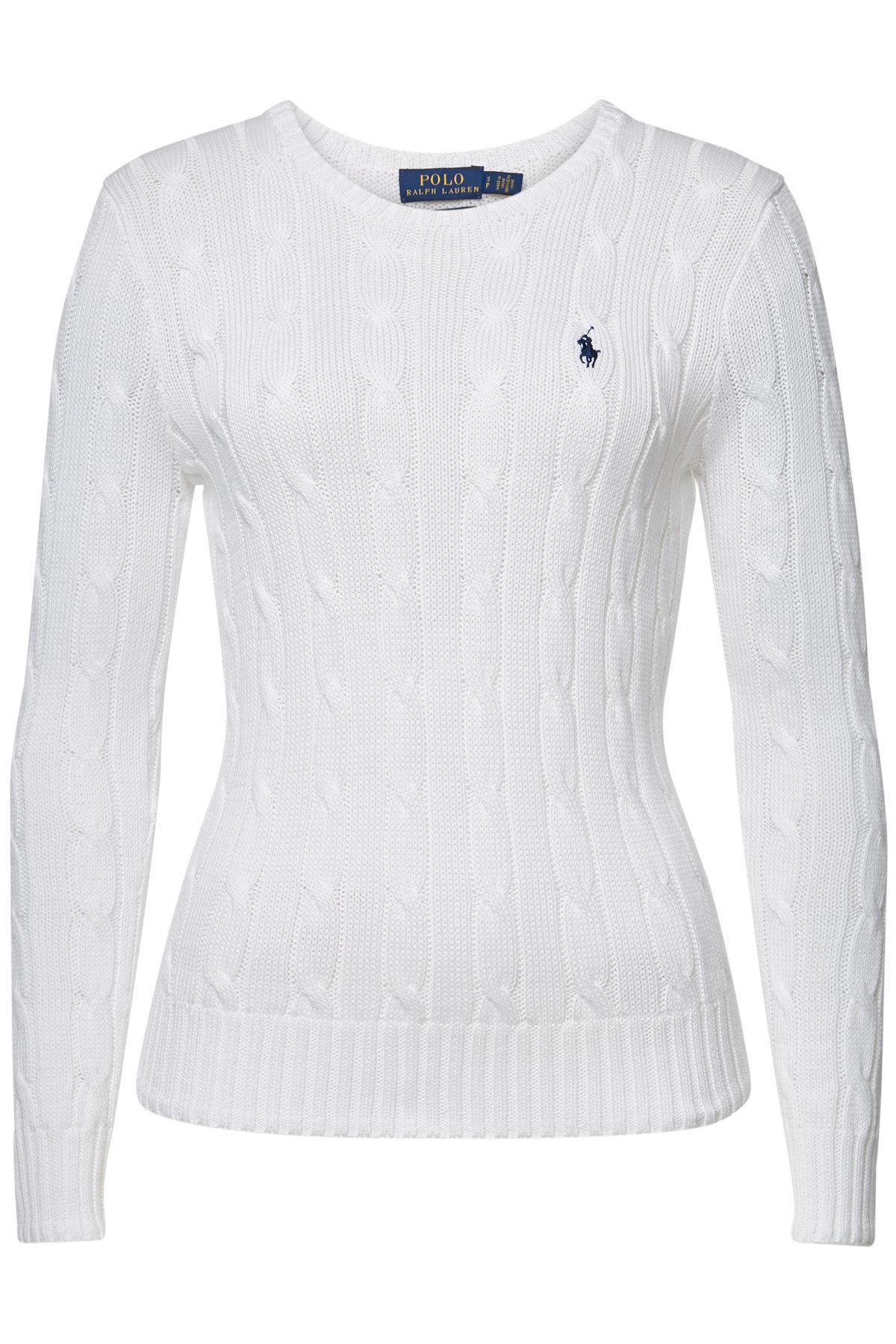 3b11f0962da021 Polo Ralph Lauren Julianna Cotton Pullover in White - Lyst