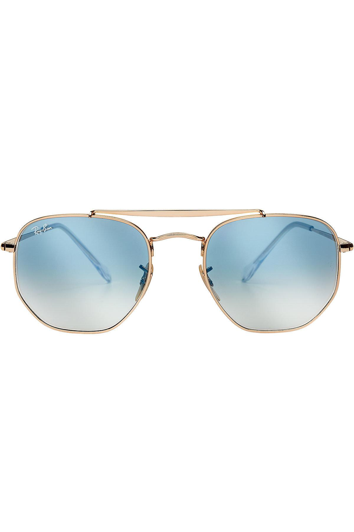 3026fef460 Ray-Ban The Marshall Hexagonal Sunglasses in Blue - Lyst