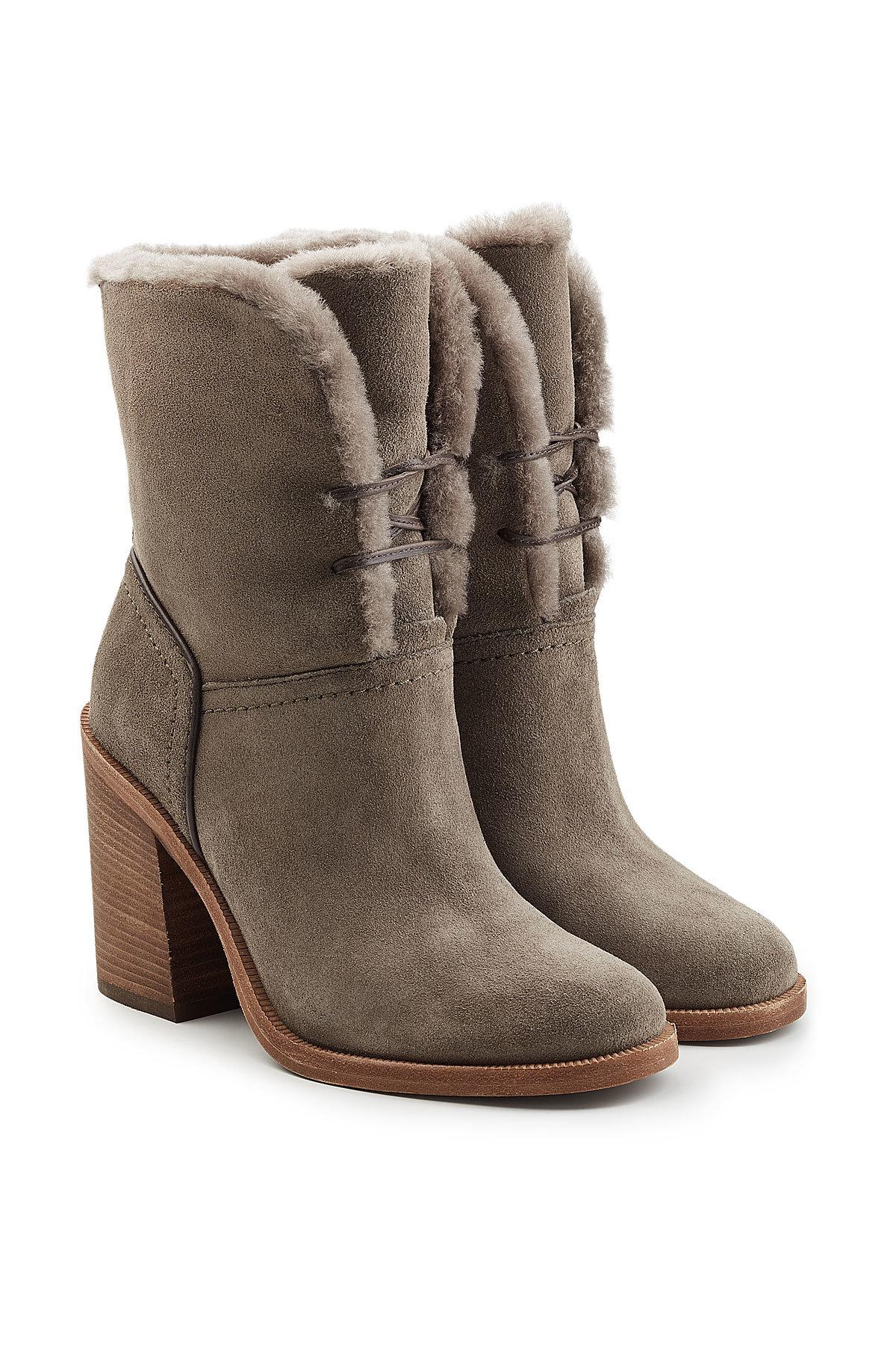 6d2be7b3bf6 ... greece lyst ugg jerene suede boots with sheepskin insole a95b7 286d9