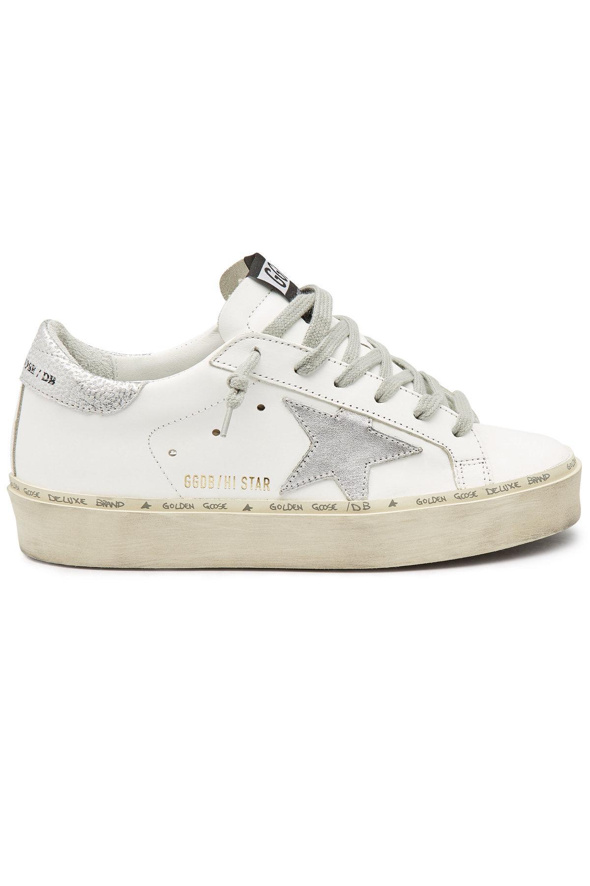 1042fba14f45 Lyst - Golden Goose Deluxe Brand Hi Star Leather Platform Sneakers ...