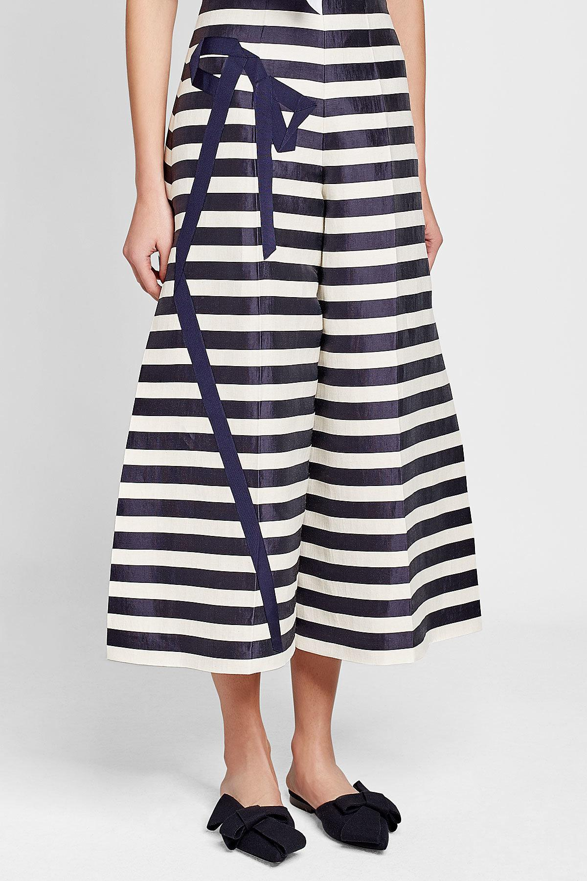 Visit New striped flared cropped trousers - Blue Delpozo Get To Buy Sale Online Buy Cheap Pictures Explore Online Q1VjLmctj0