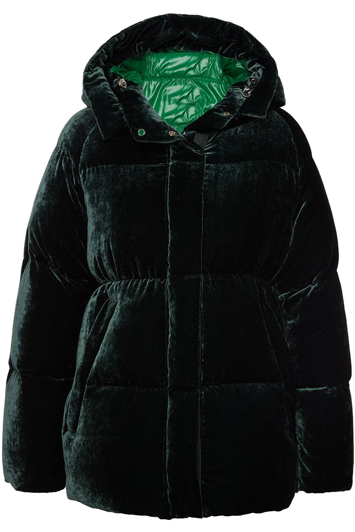 7a003e8dd56c Moncler Butor Velvet Down Jacket With Silk in Black - Lyst