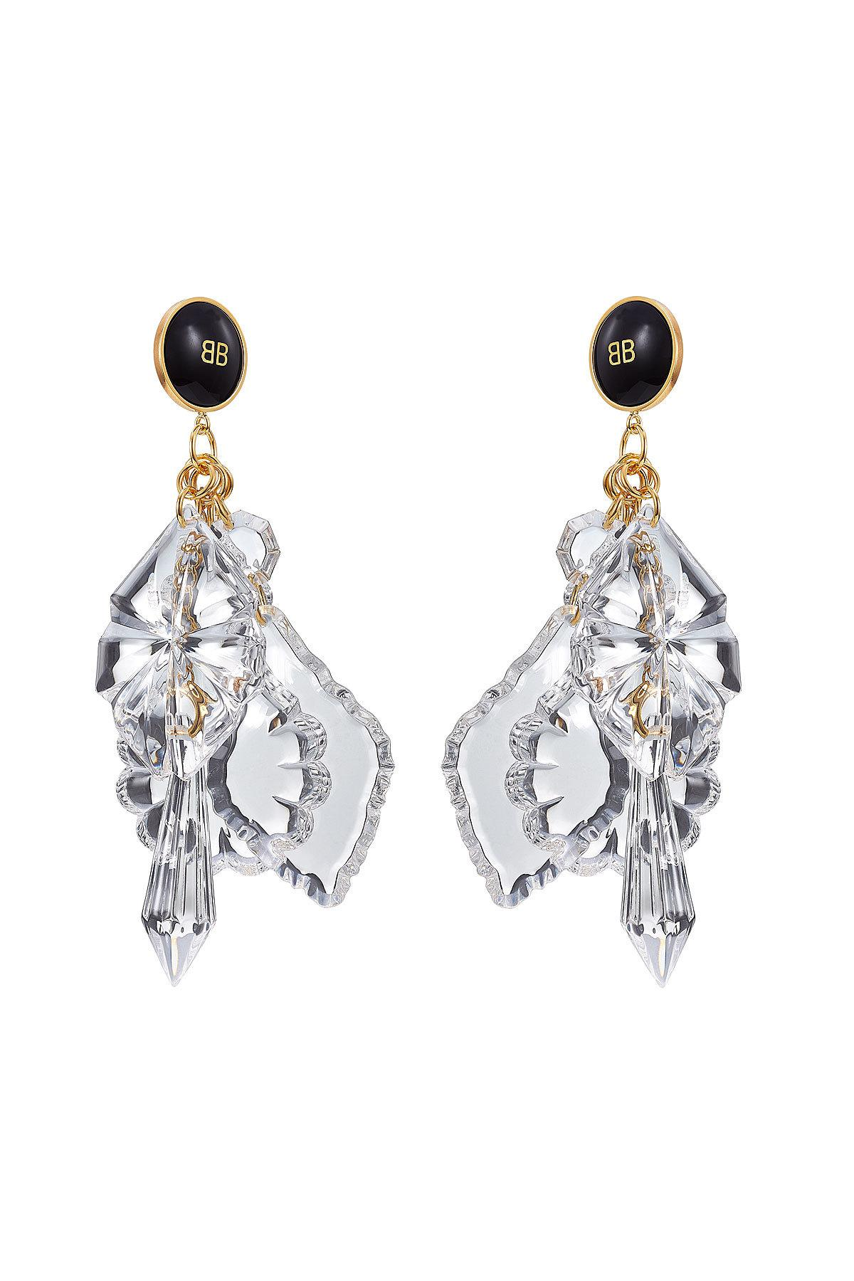 Lyst balenciaga chandelier earrings in metallic balenciaga womens metallic chandelier earrings arubaitofo Image collections