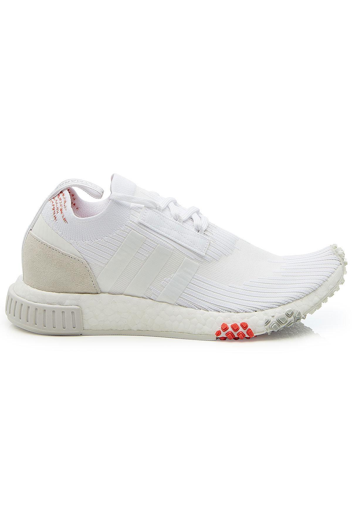 low priced 68c99 5cf5a Adidas Originals - White Nmd Racer Primeknit Sneakers - Lyst. View  fullscreen